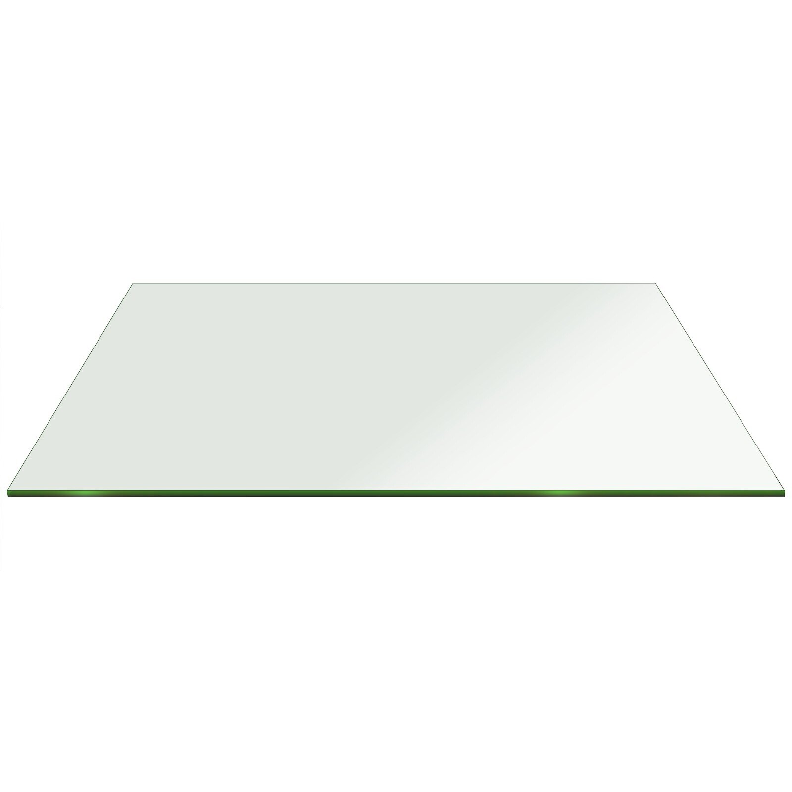 Fab Glass and Mirror Rectangle Glass Flat Edge Tempered  : Rectangle Glass Flat Edge Tempered Eased Corners from www.wayfair.ca size 1600 x 1600 jpeg 31kB