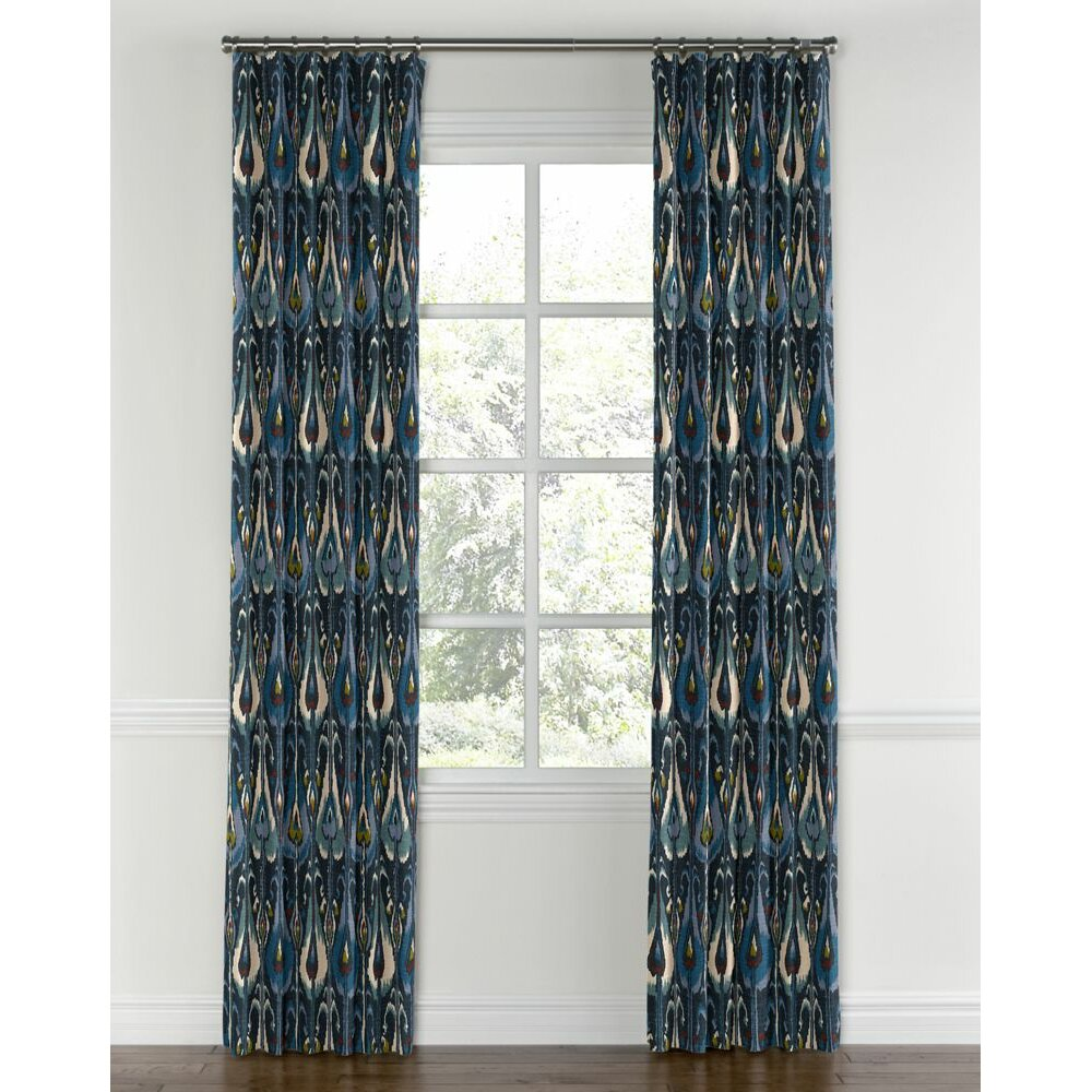 loom decor ikat blackout single curtain panel wayfair