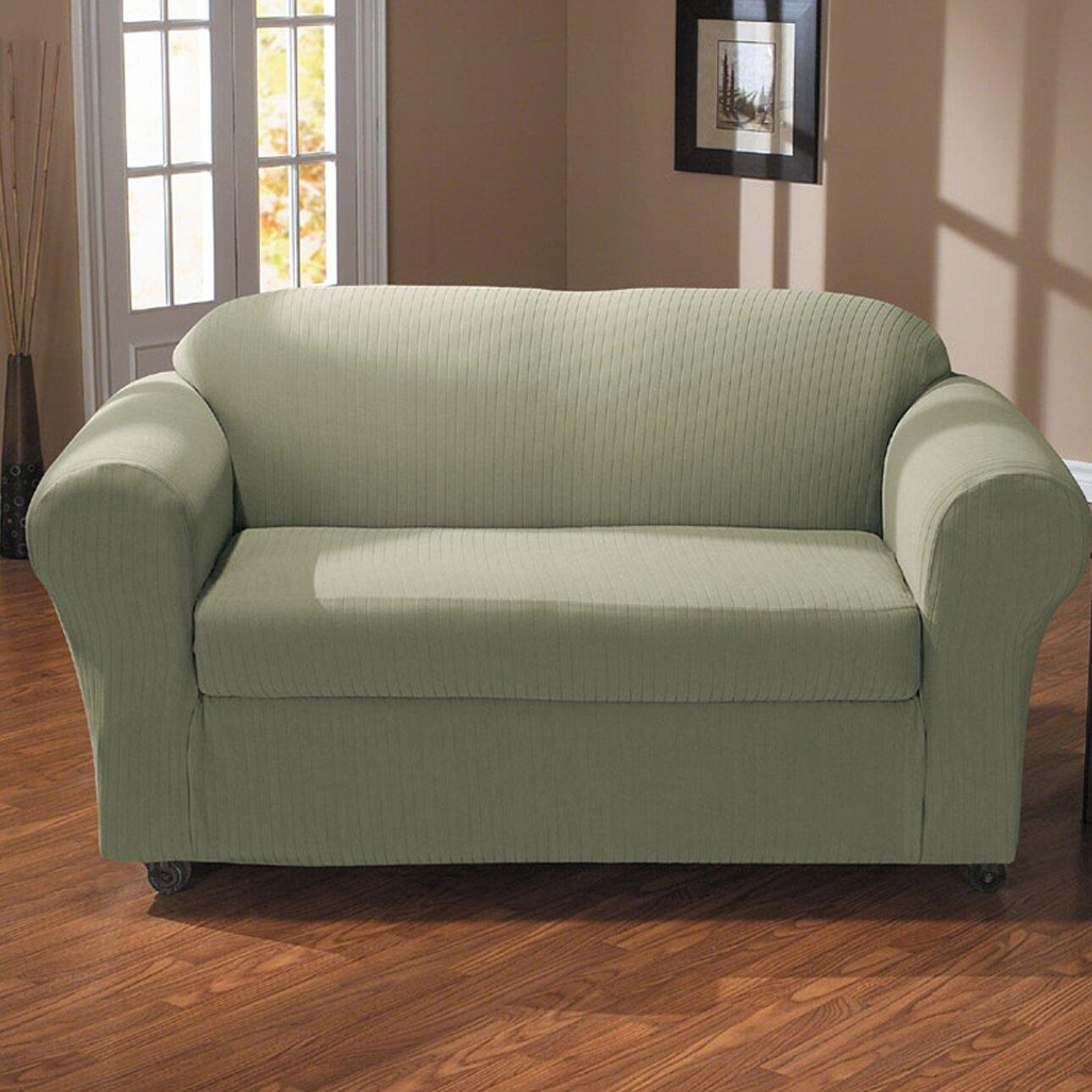 cabersurefit spencer sofa slipcover. Black Bedroom Furniture Sets. Home Design Ideas