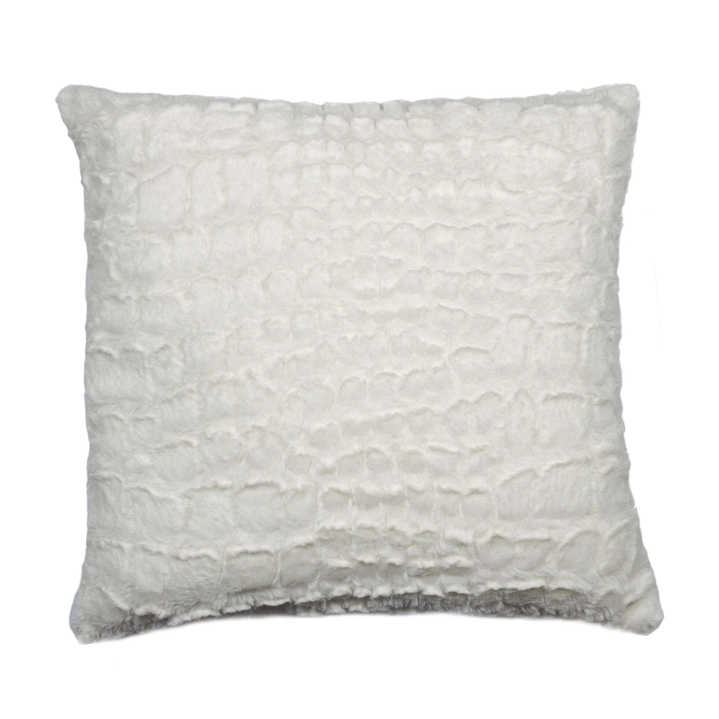 Luxe Belton Faux Fur Throw Pillow Amp Reviews Wayfair Ca