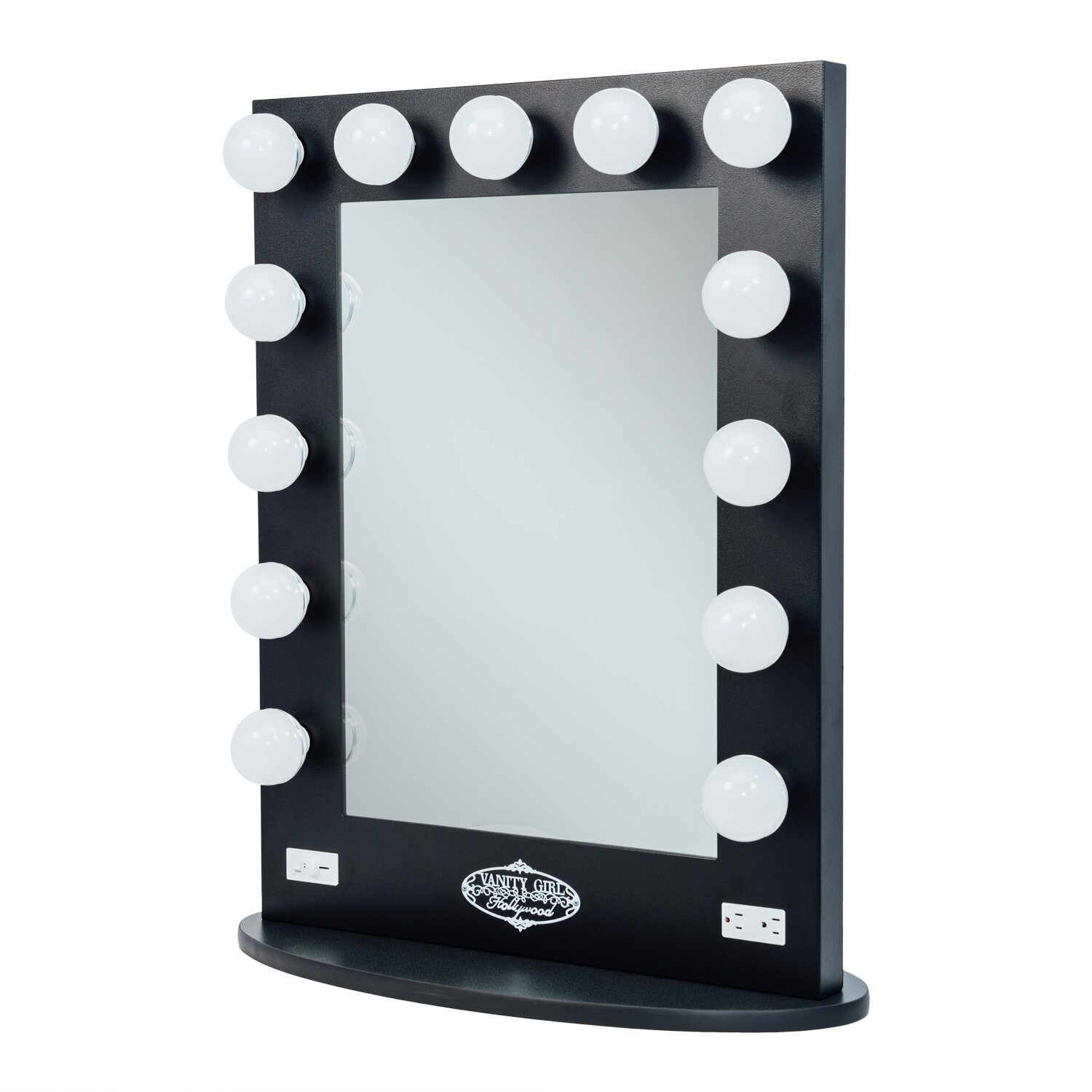 Vanity girl hollywood broadway lighted vanity mirror for Mirror vanity