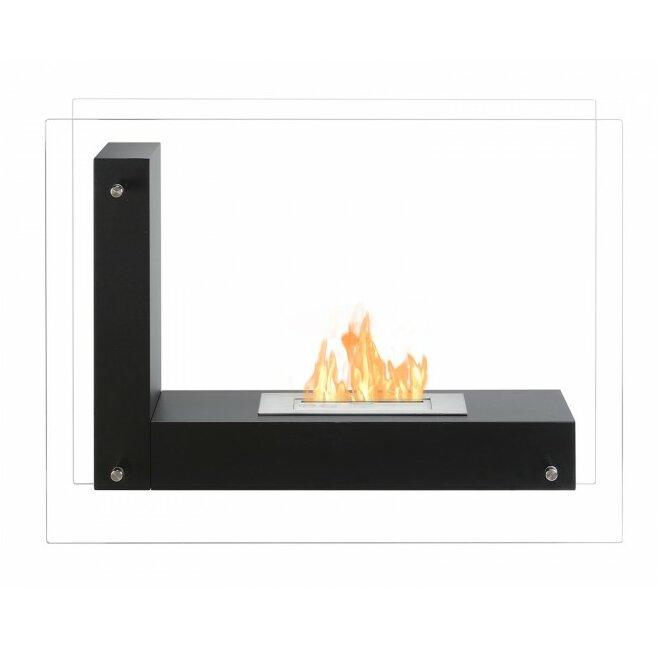 ignis vitrum l freestanding ventless ethanol fireplace