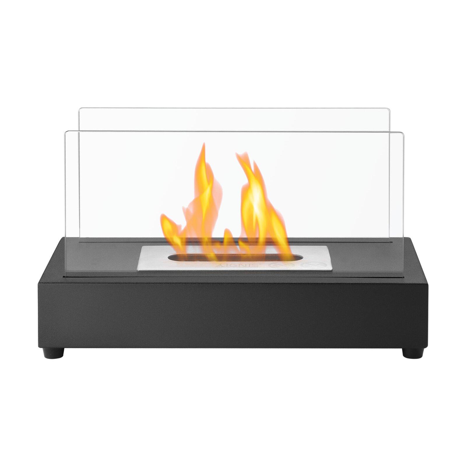 Ignis Tower Ventless Bio Ethanol Tabletop Fireplace Wayfair