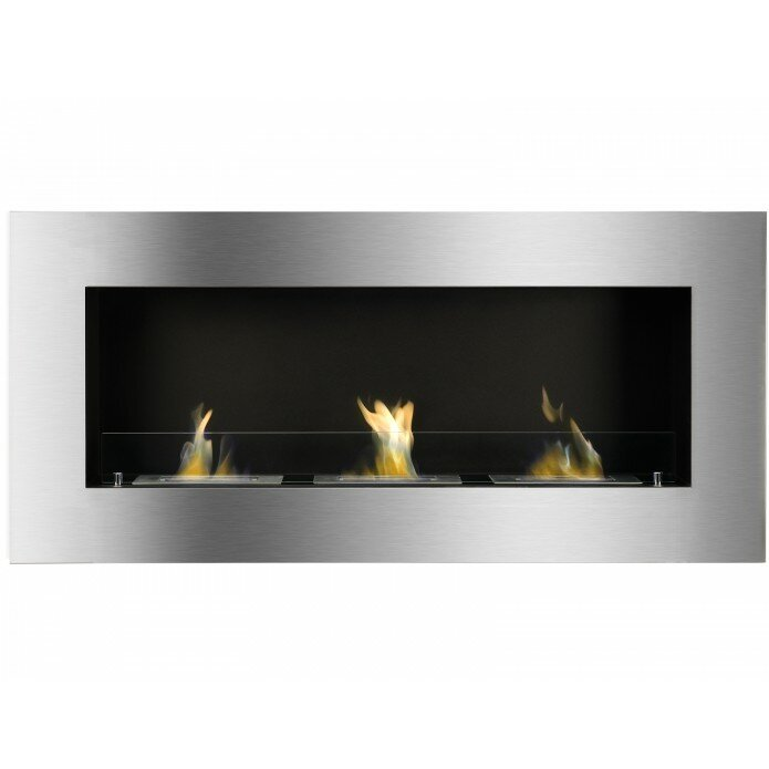 Ignis optimum wall mount ethanol fireplace for Wayfair gel fireplace