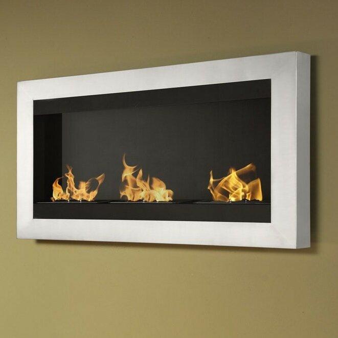 ignis magnum wall mount ethanol fireplace wayfair