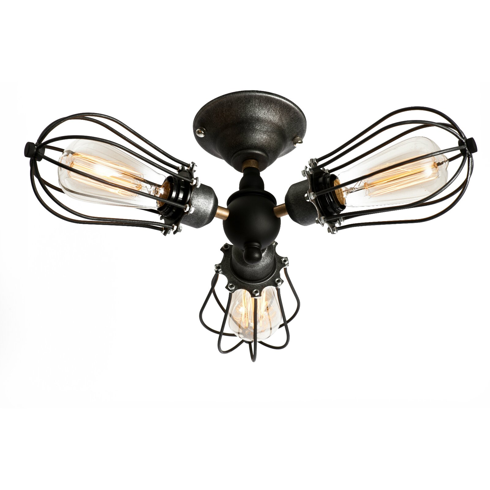 LightingWorld 3 Light Semi Flush Mount & Reviews | Wayfair