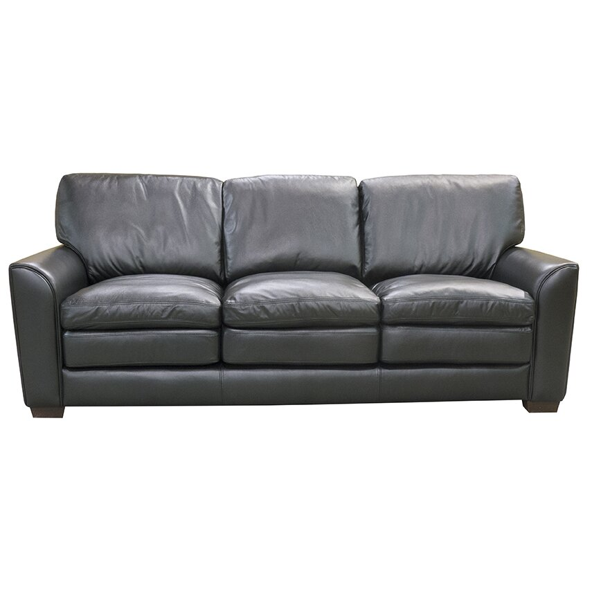 Coja sacramento top grain leather sofa loveseat and chair for Leather sofa and loveseat set