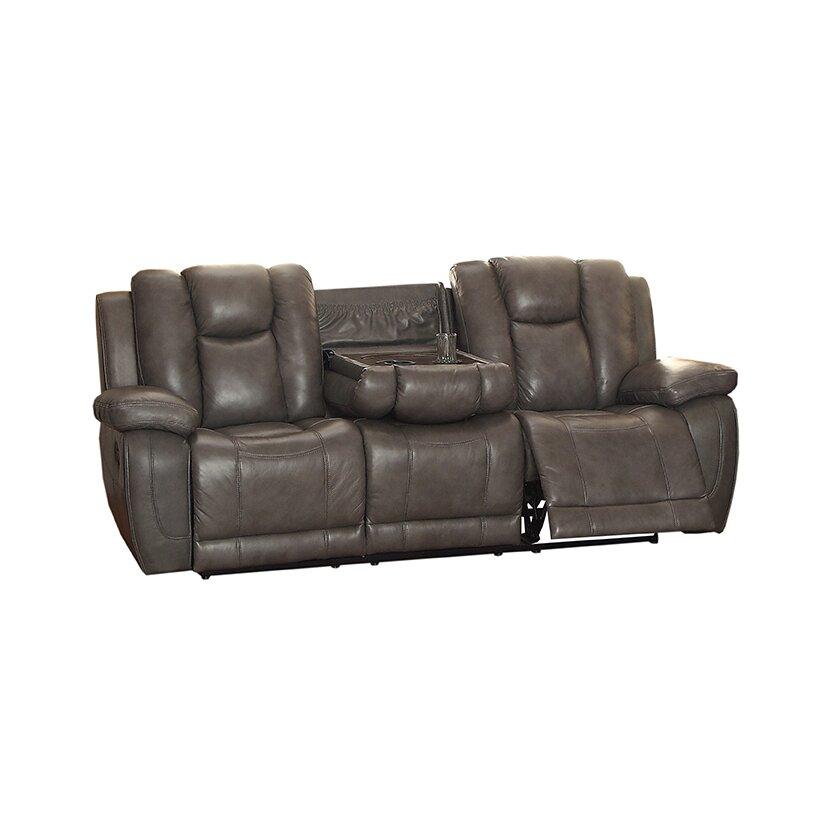 Coja fleetwood leather reclining sofa wayfairca for Leather sectional sofa wayfair