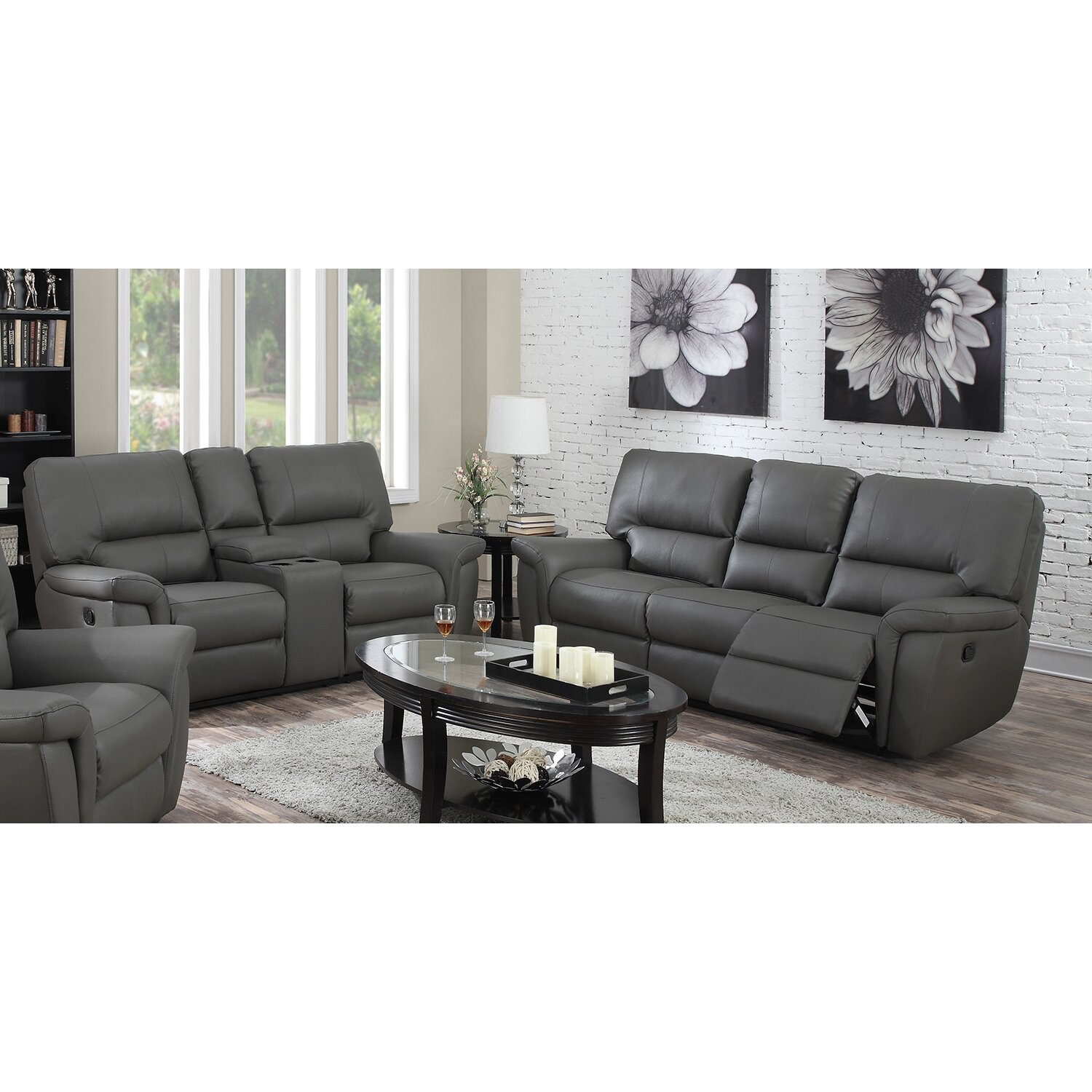 Sofa And Loveseat Recliner Sets Brown Reclining Sofa Loveseat And Rocker Recliner Walnut
