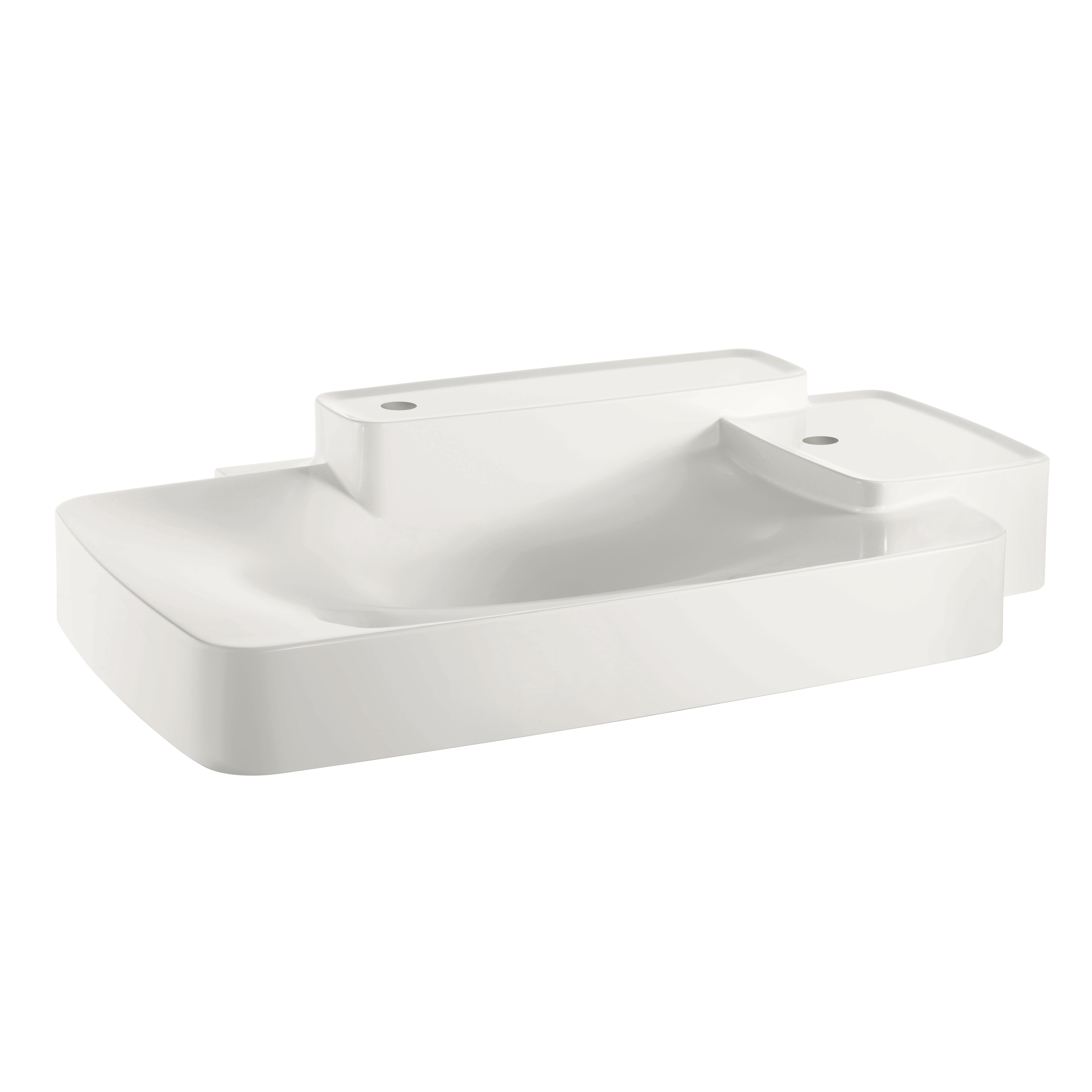 Large Wall Hung Basin : Axor Axor Bouroullec Large Wall Mounted Bathroom Sink with Two Shelves ...