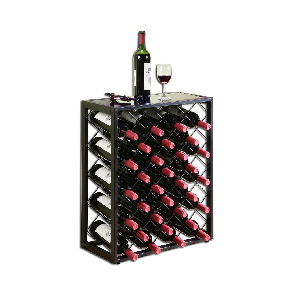 Mango steam 32 bottle floor wine rack reviews wayfair for Floor wine rack