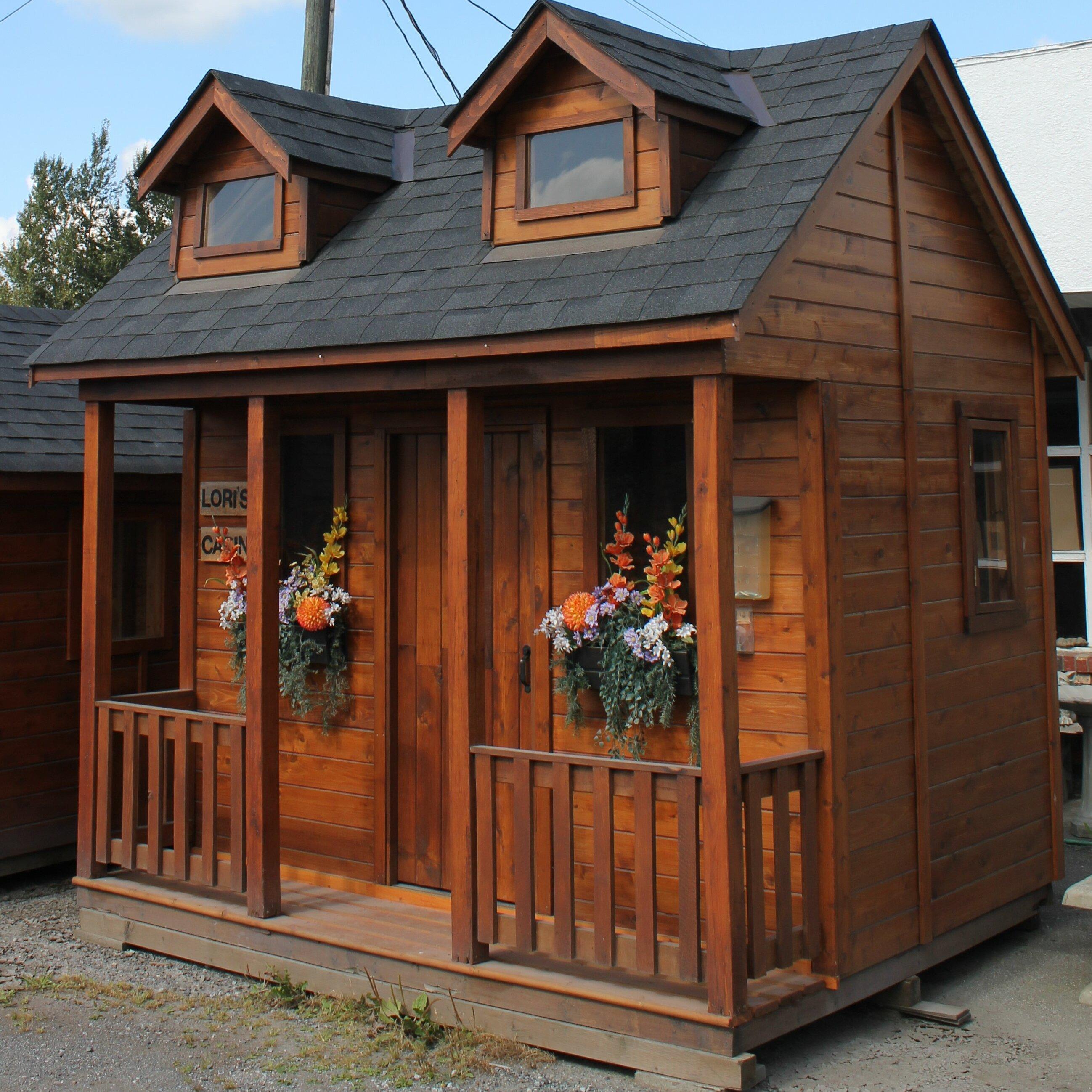 Westviewmanufacturing lori 39 s cabin playhouse wayfair for Kids cabin playhouse