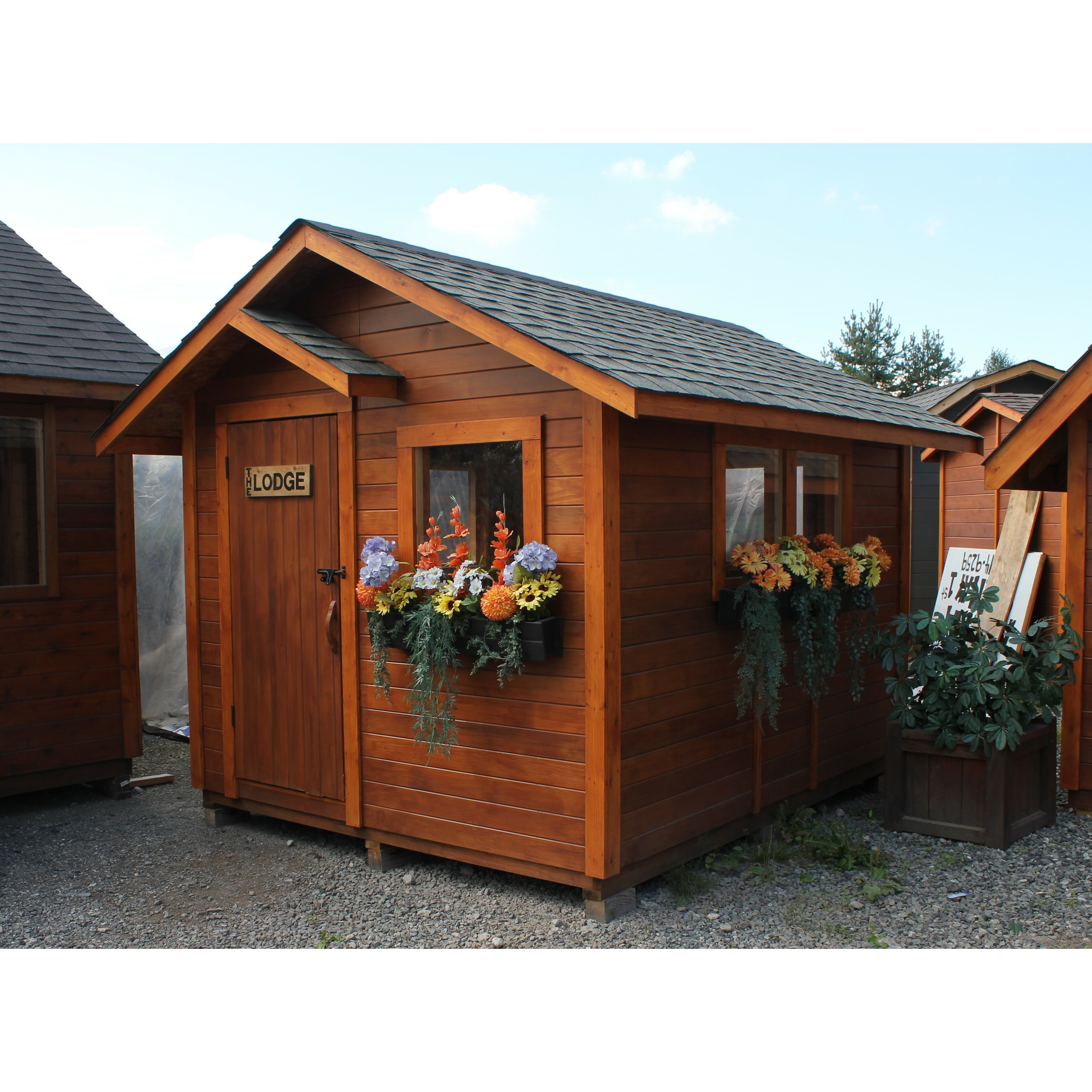 Westviewmanufacturing the lodge 10 ft w x 12 ft d wooden for Portable outside storage sheds