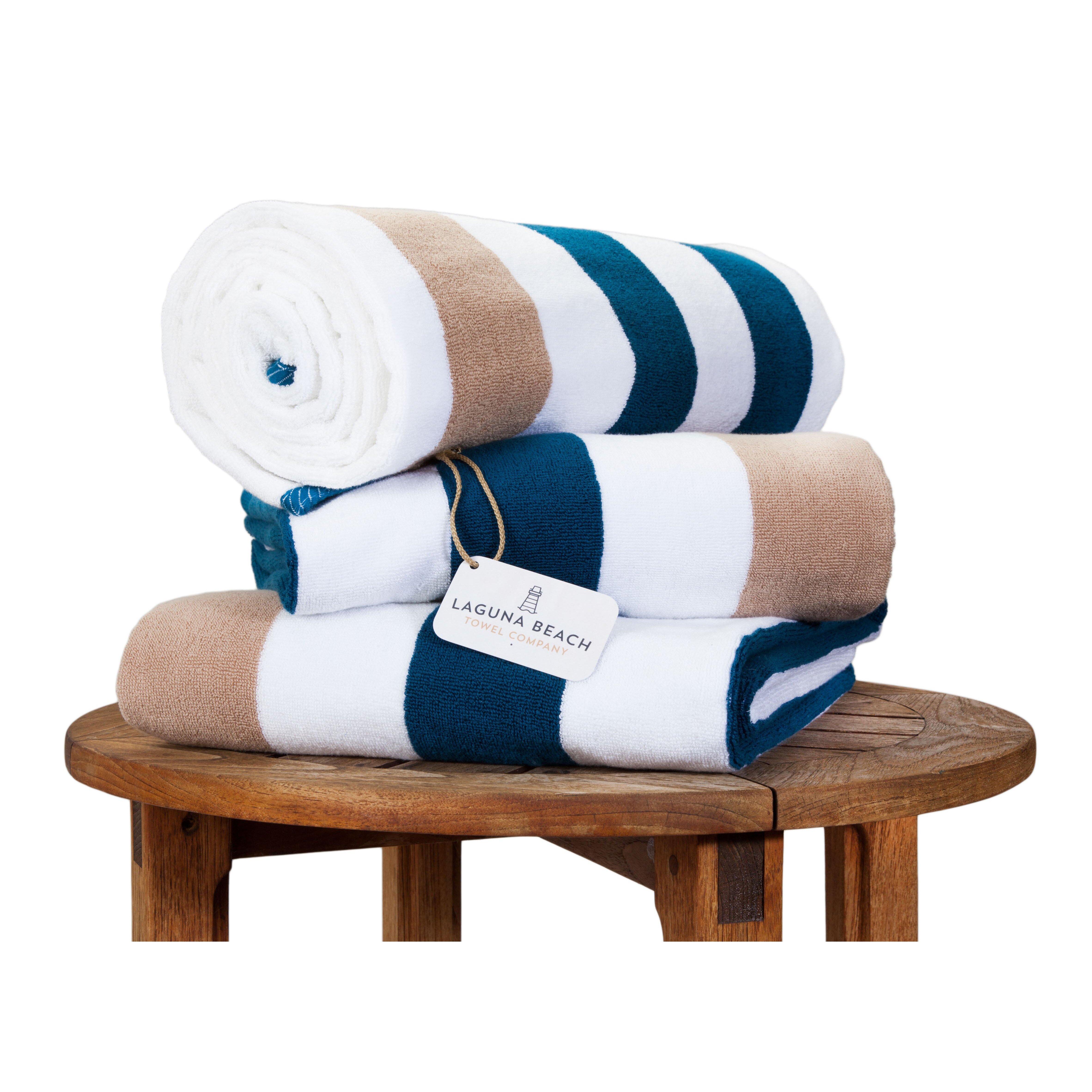 Beach Towel: Laguna Beach Towel Company Plush Cabana Beach Towel