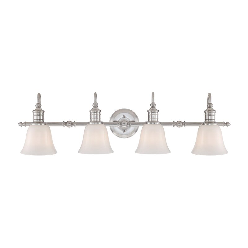 Quoizel Vanity Lights : Quoizel Broadgate 4 Light Vanity Light & Reviews Wayfair