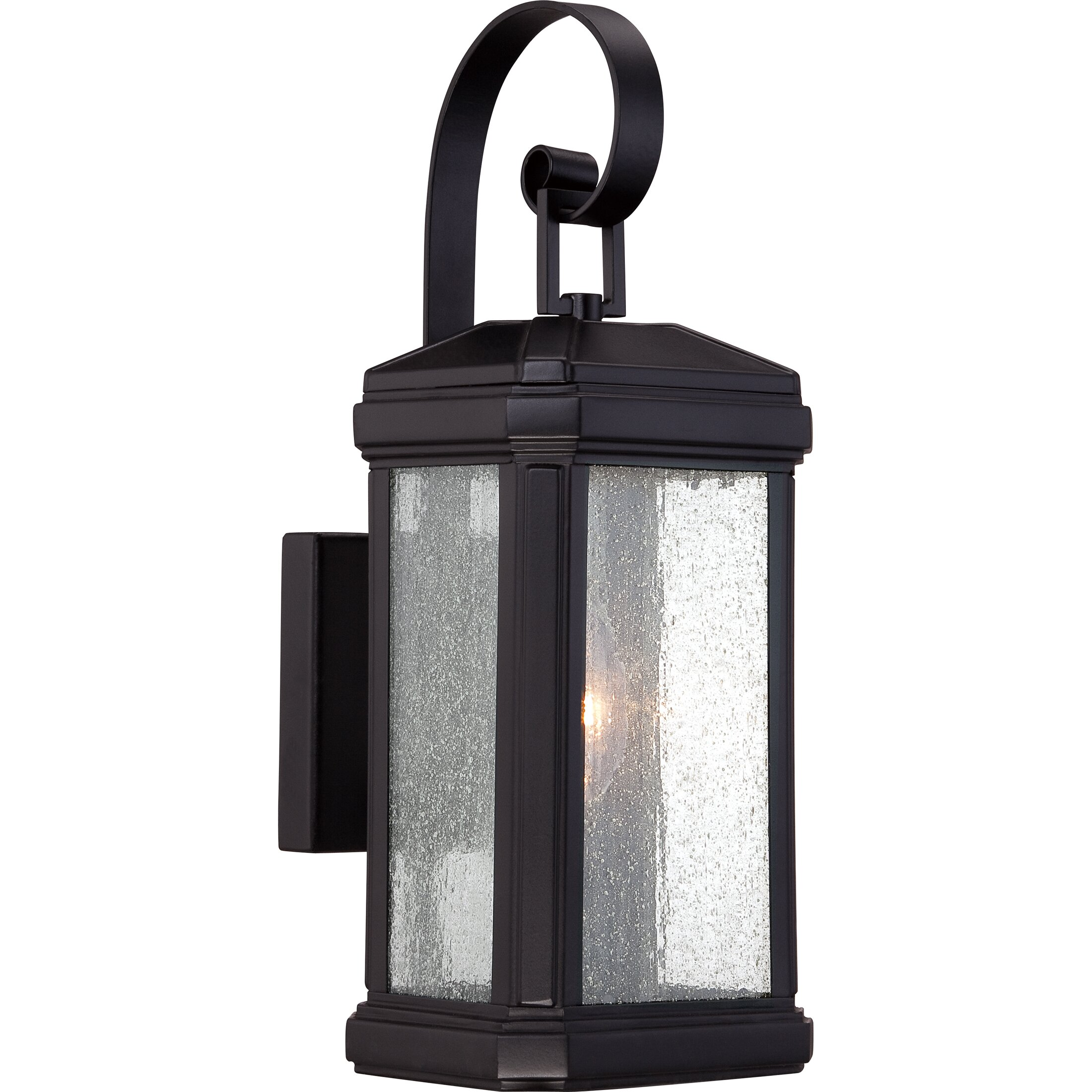 Lantern Wall Light Outdoor : Quoizel Trumbull 1 Light Outdoor Wall Lantern & Reviews Wayfair