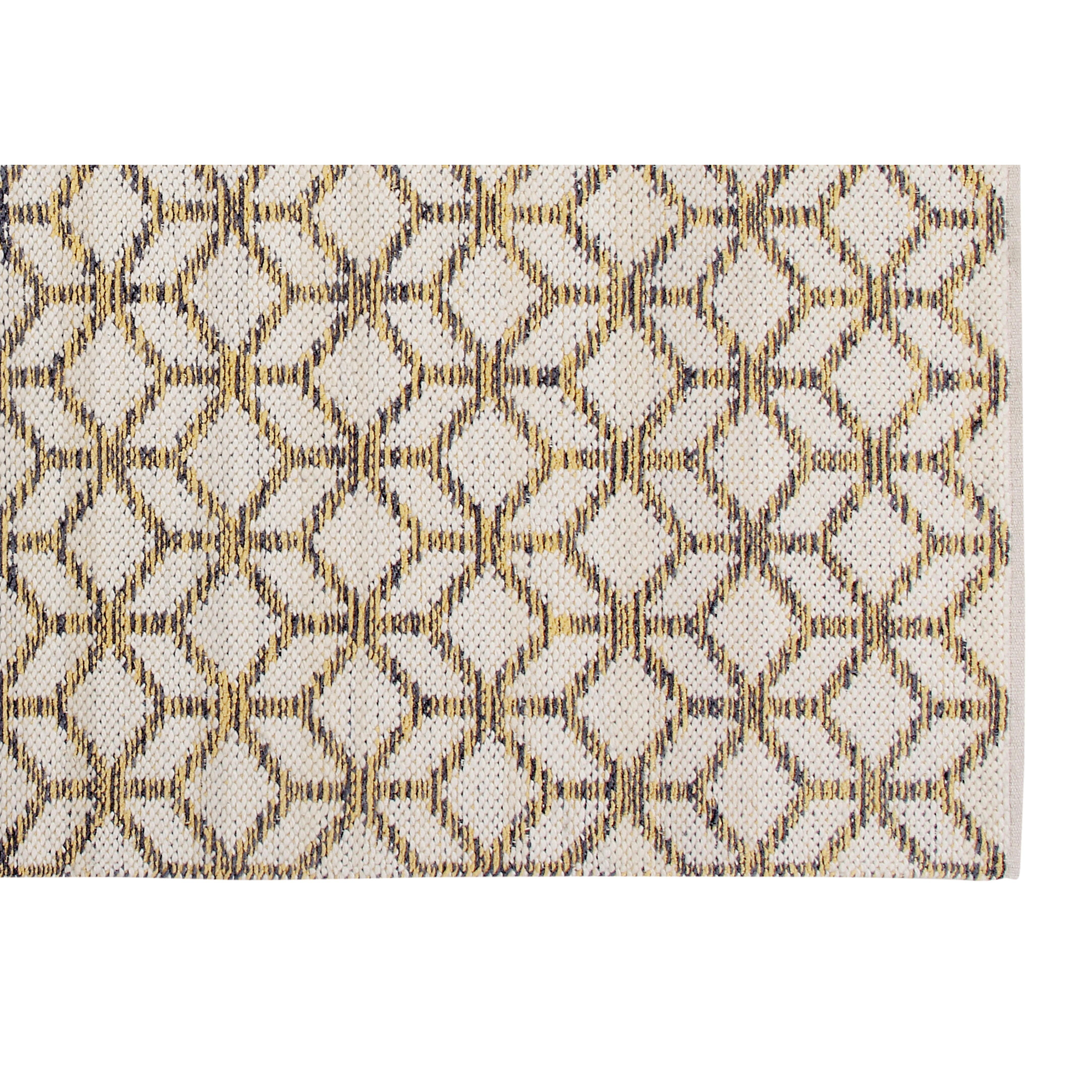 Bath Rugs Yellow Grey: Cozy Home And Bath Hand-Woven Yellow/Gray Area Rug