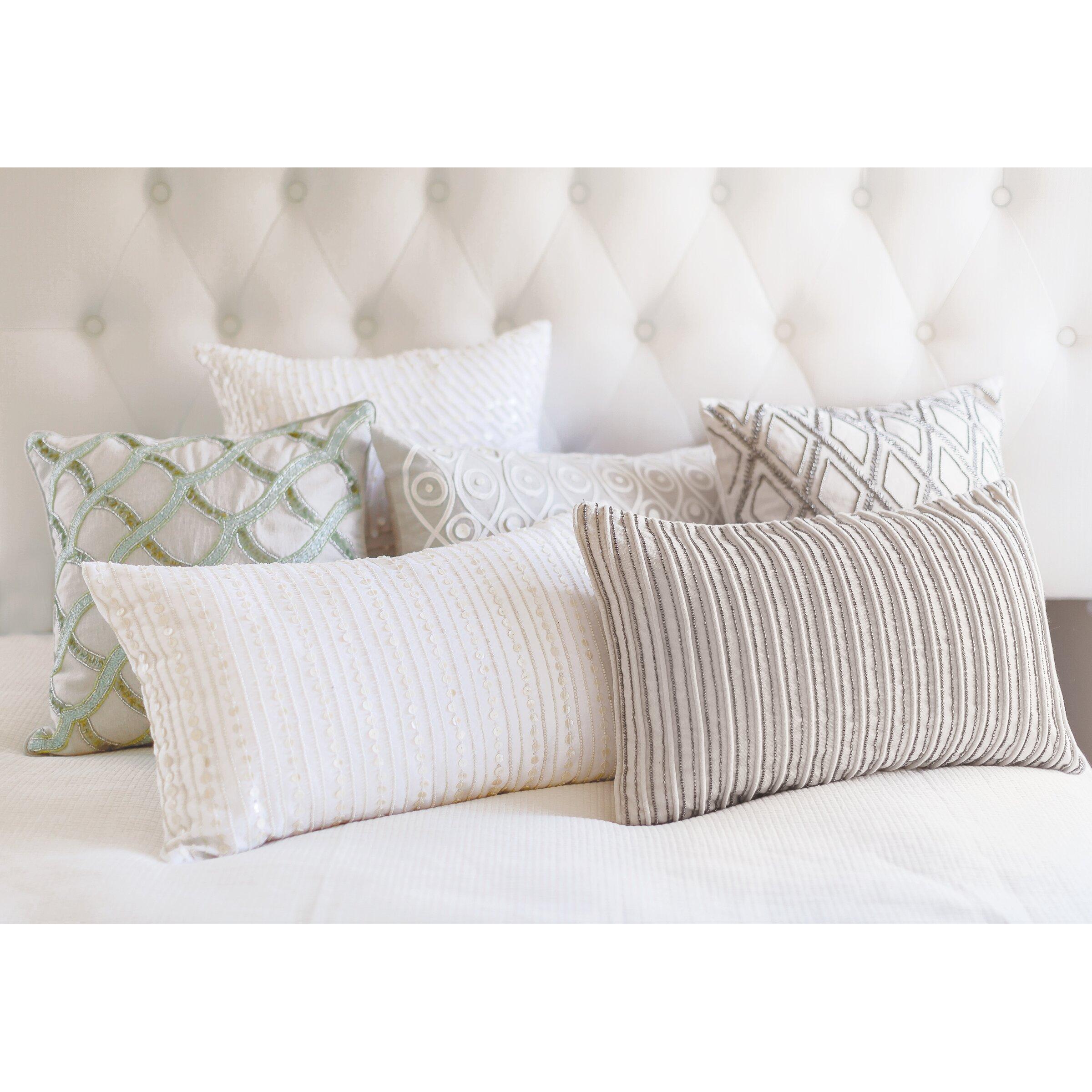 Elisabeth York Sea Glass Ripple Cotton Throw Pillow