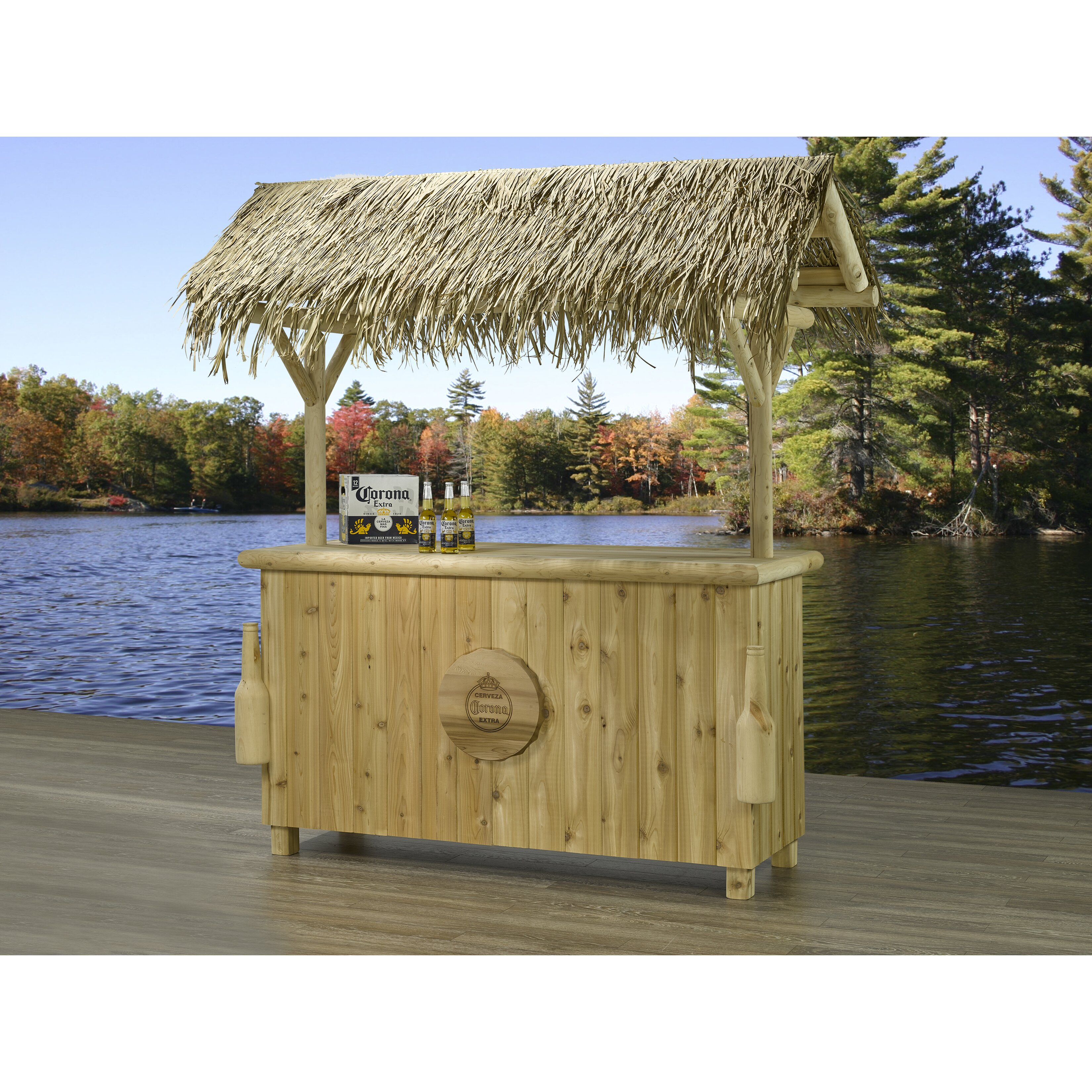 Corona 3 Piece Tiki Bar Set Wayfair