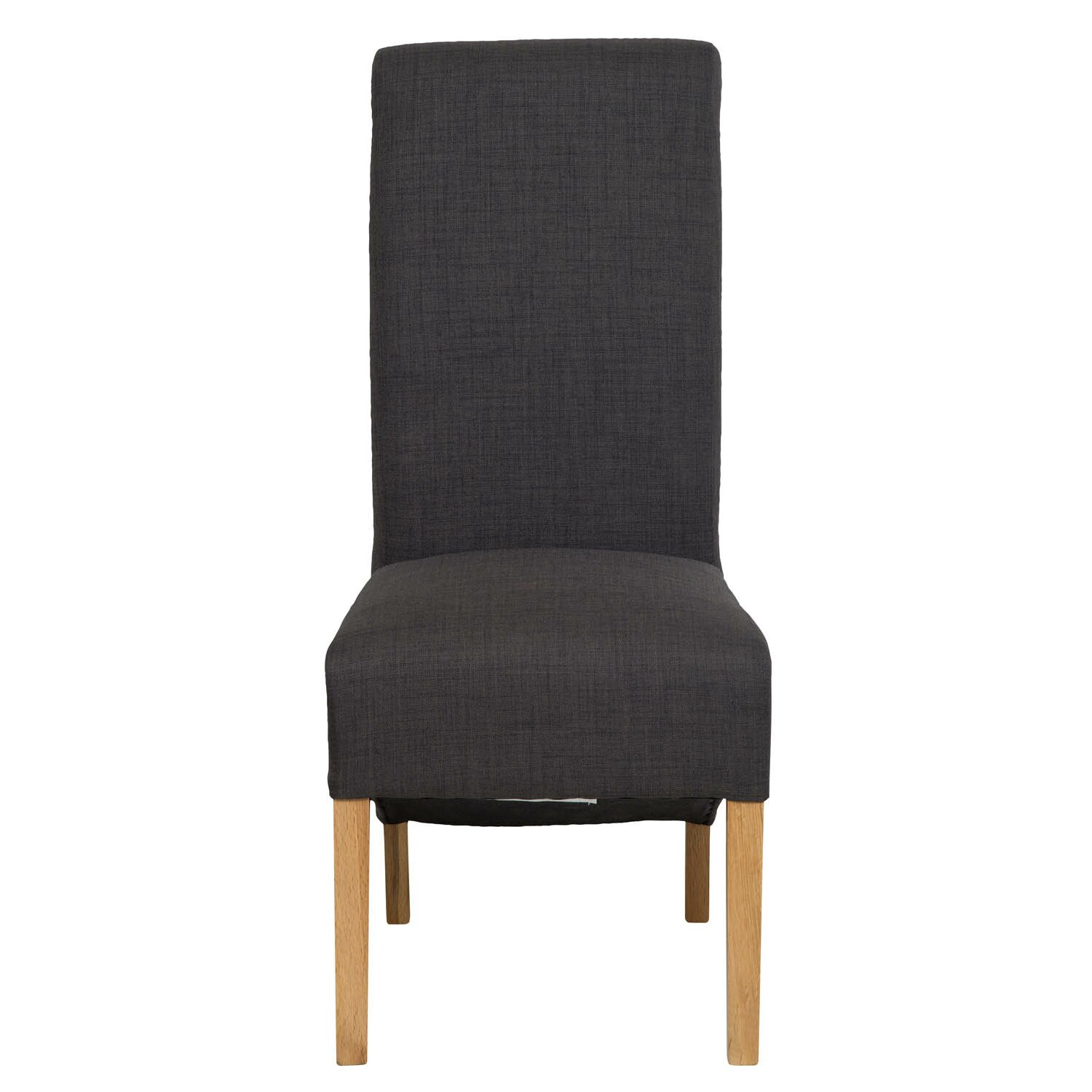 Hallowood furniture oak upholstered dining chair wayfair uk for Oak dining chairs