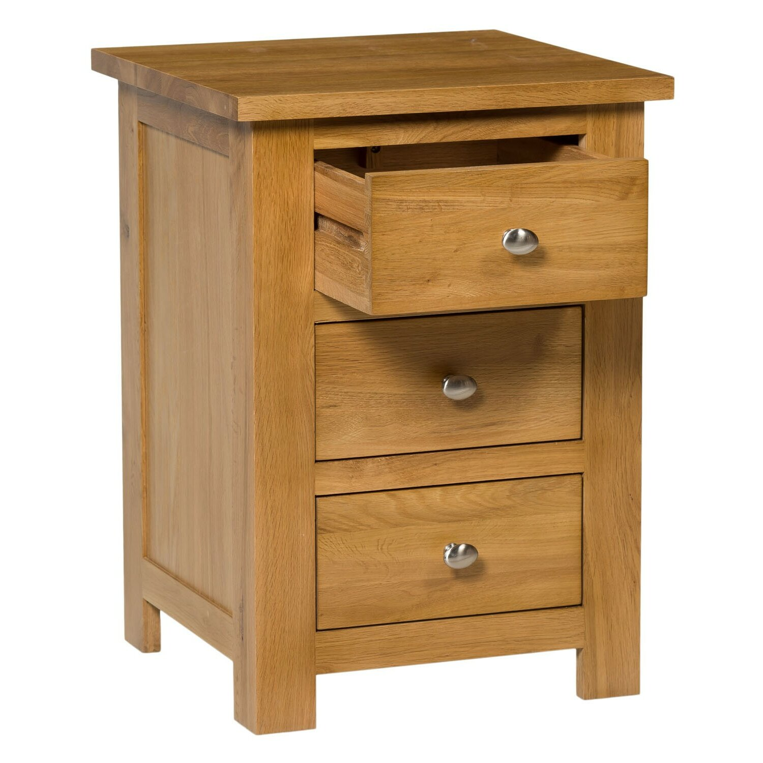 hallowood furniture new waverly 3 drawer bedside table. Black Bedroom Furniture Sets. Home Design Ideas