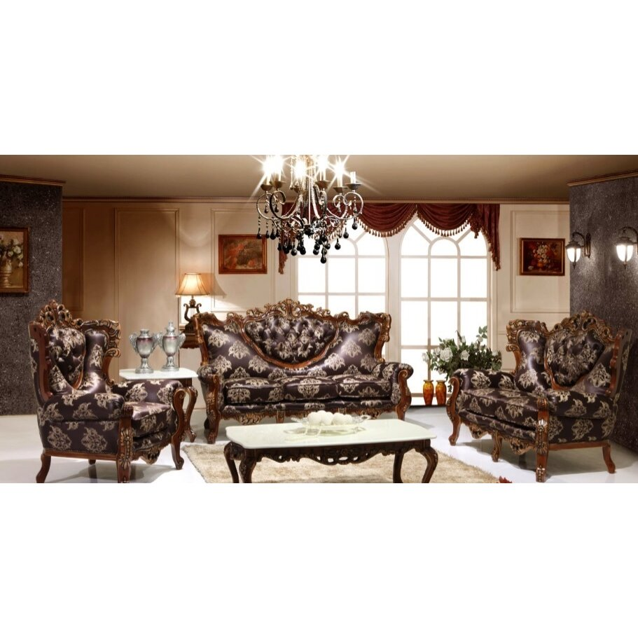 joseph louis home furnishings 3 piece living room set wayfair. Black Bedroom Furniture Sets. Home Design Ideas