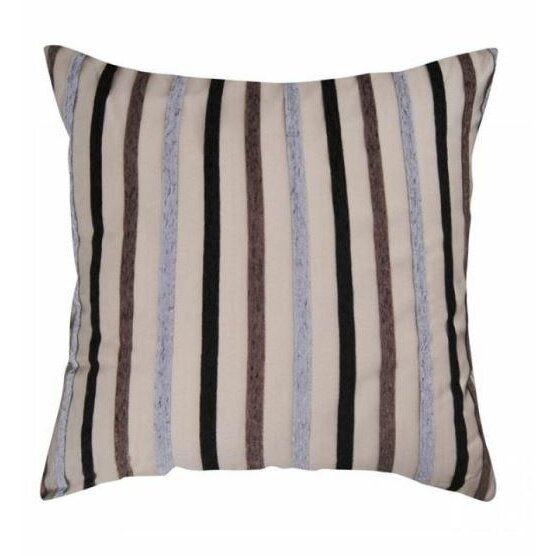 Throw Pillows With Big Buttons : Lifestyle Bedding Solutions Buttons and Stripes Decorative Throw Pillows Wayfair
