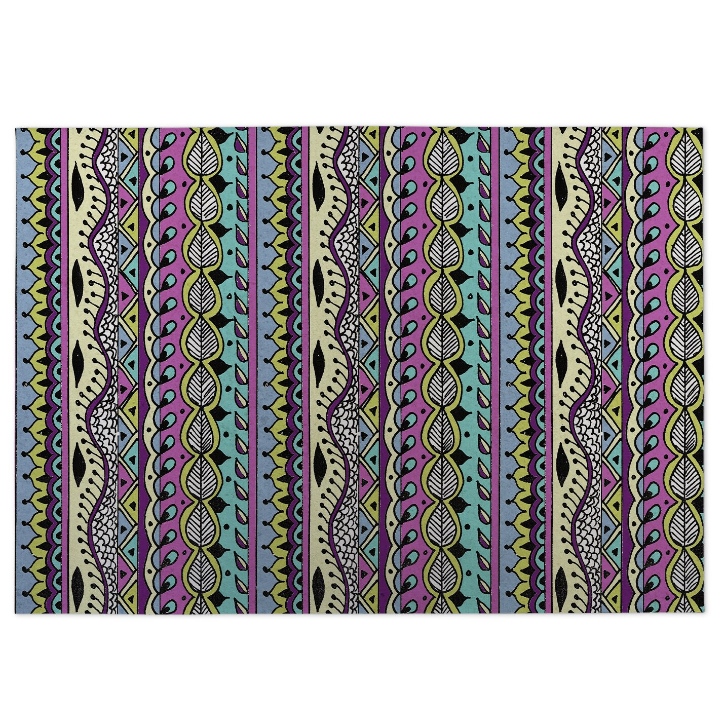 Kavka Color Dance Purple Indoor Outdoor Floor Mat