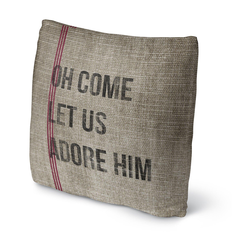 Throw Pillows Us : Kavka Oh Come Let Us Adore Him Fleece Throw Pillow & Reviews Wayfair