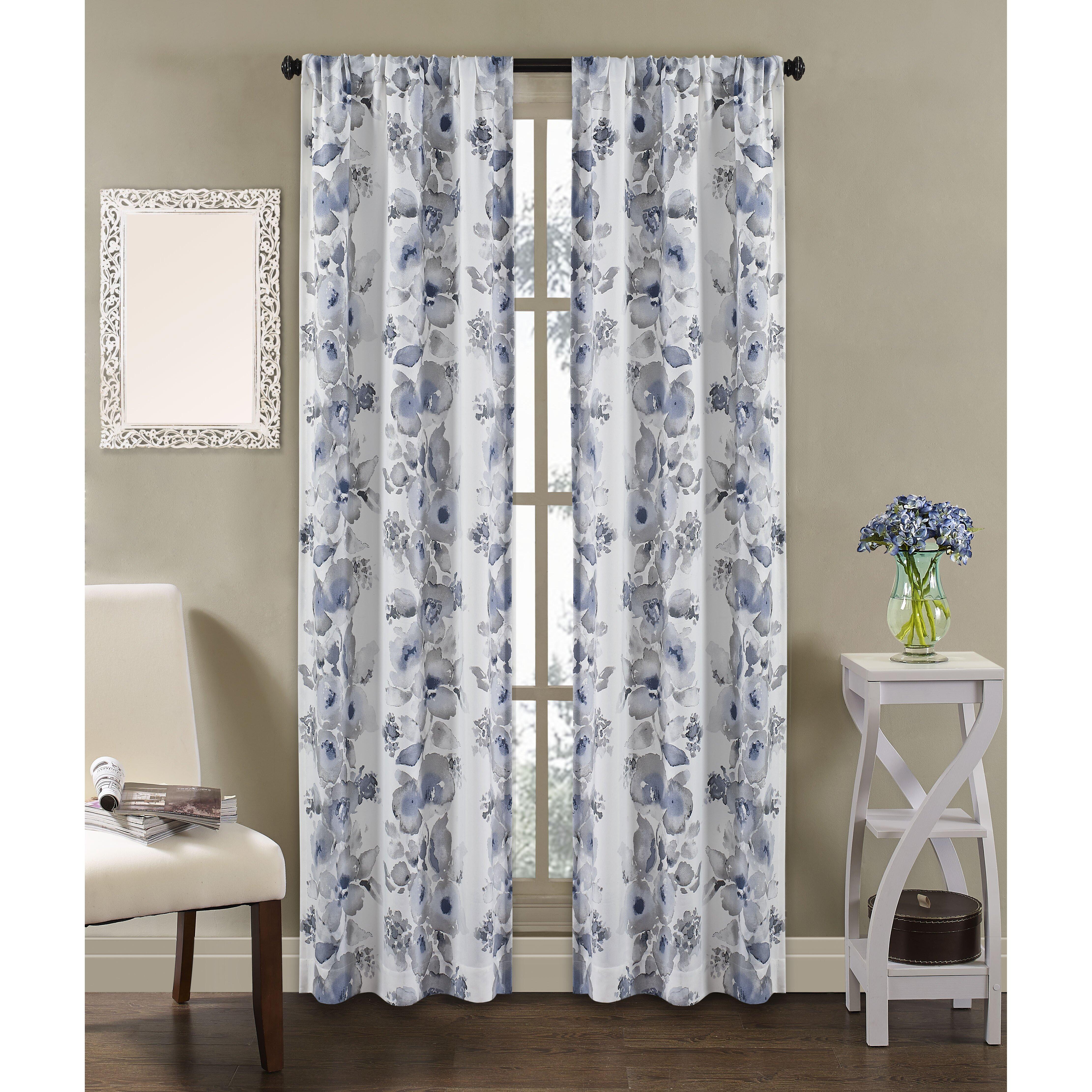 richloom home fashions dahlia indoor outdoor curtain