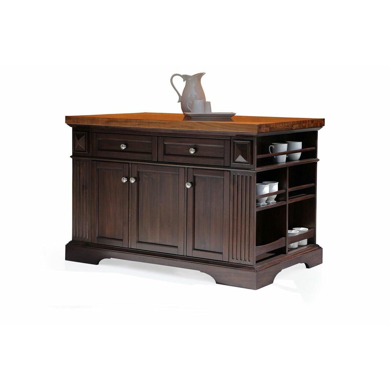 222 Fifth Furniture Greenwich Kitchen Island With Wood Top Wayfair