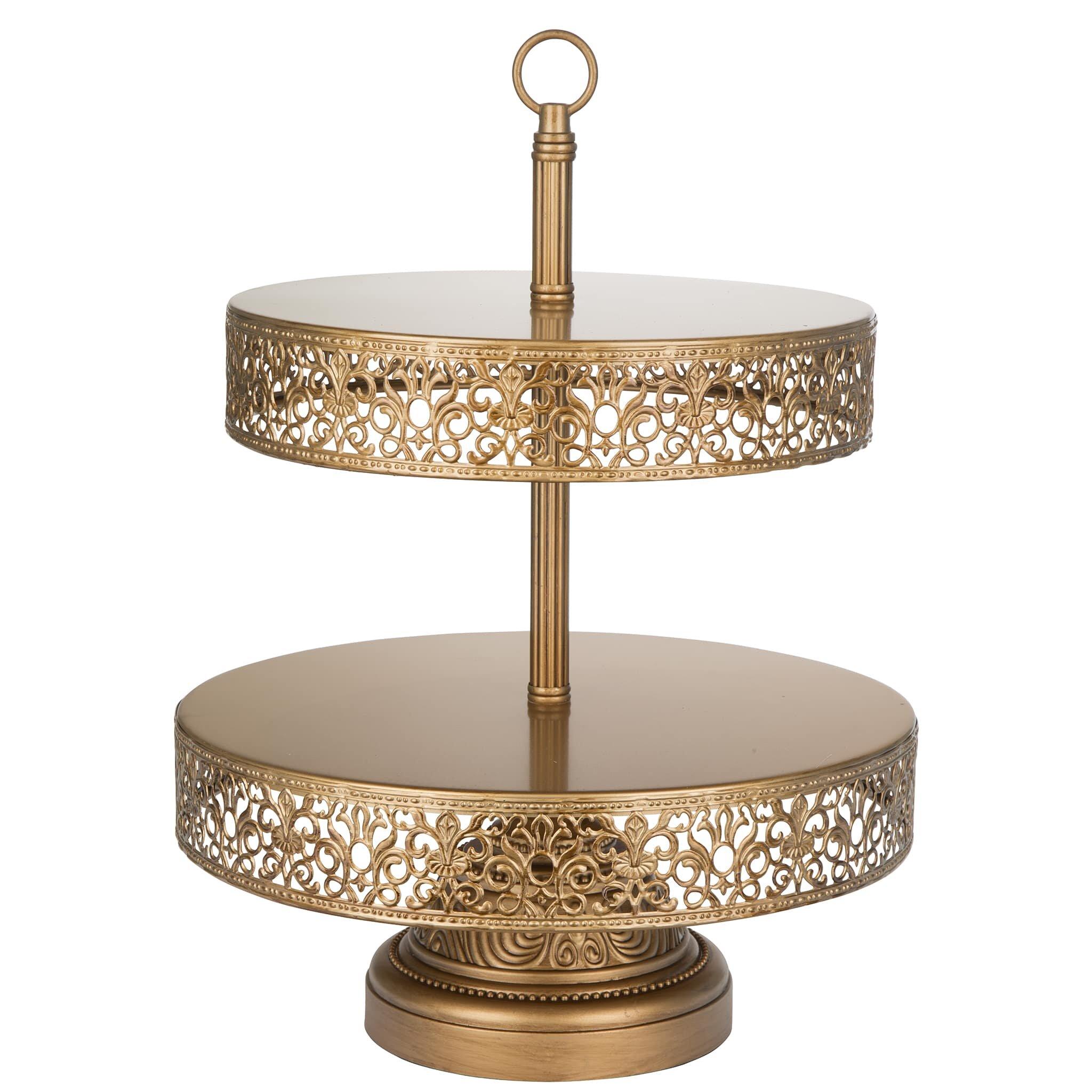 amalfidecor victoria 2 tier metal cupcake stand reviews. Black Bedroom Furniture Sets. Home Design Ideas