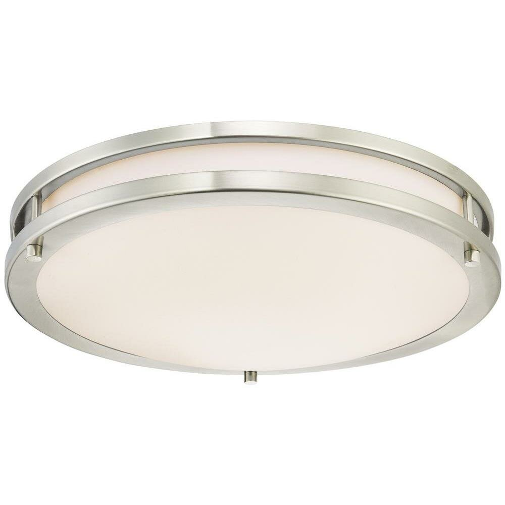 westinghouse lighting 1 light dimmable led flush mount wayfair. Black Bedroom Furniture Sets. Home Design Ideas