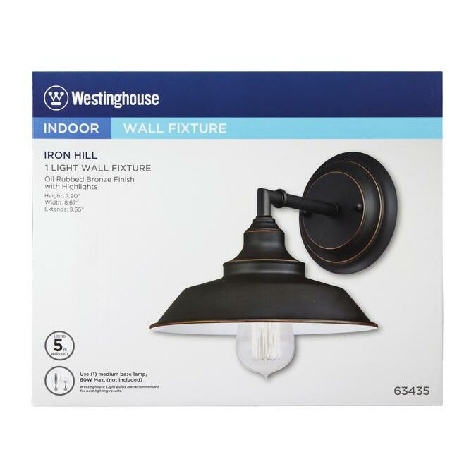 Westinghouse Iron Hill Pendant: Westinghouse Lighting Iron Hill 1 Light Indoor Wall