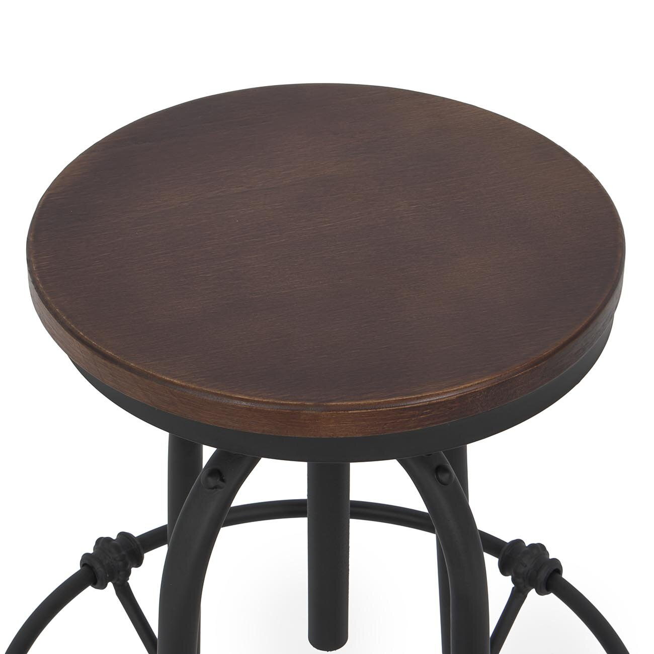 Belleze adjustable height swivel bar stool wayfair for Adjustable height bar stools