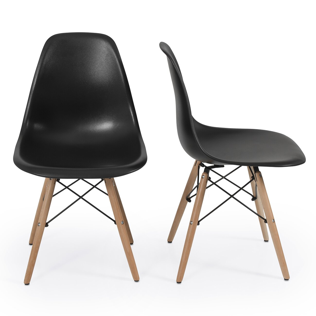 belleze dowel eames side chair reviews wayfair. Black Bedroom Furniture Sets. Home Design Ideas