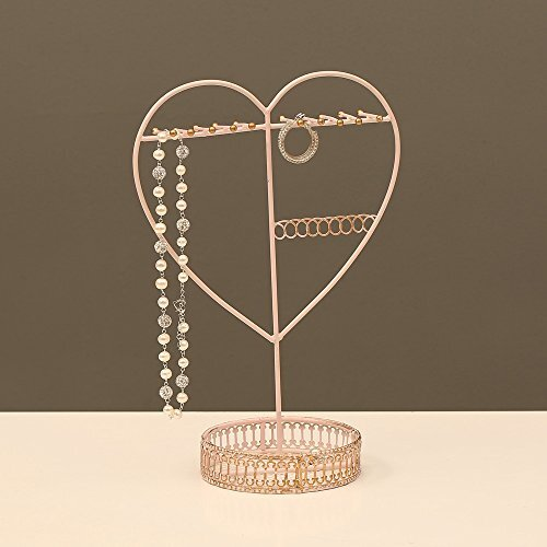 Jewellery Stand Designs : Ikee design metal heart shape jewellery display and