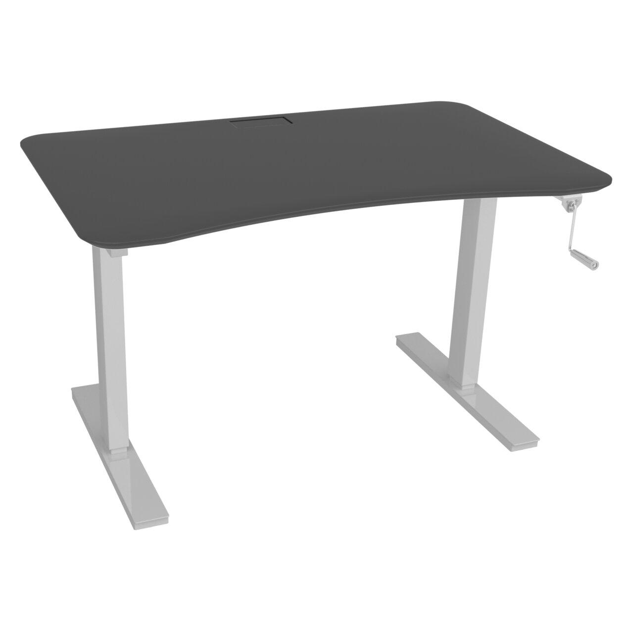 ee standing desk with manual hand crank wayfair. Black Bedroom Furniture Sets. Home Design Ideas