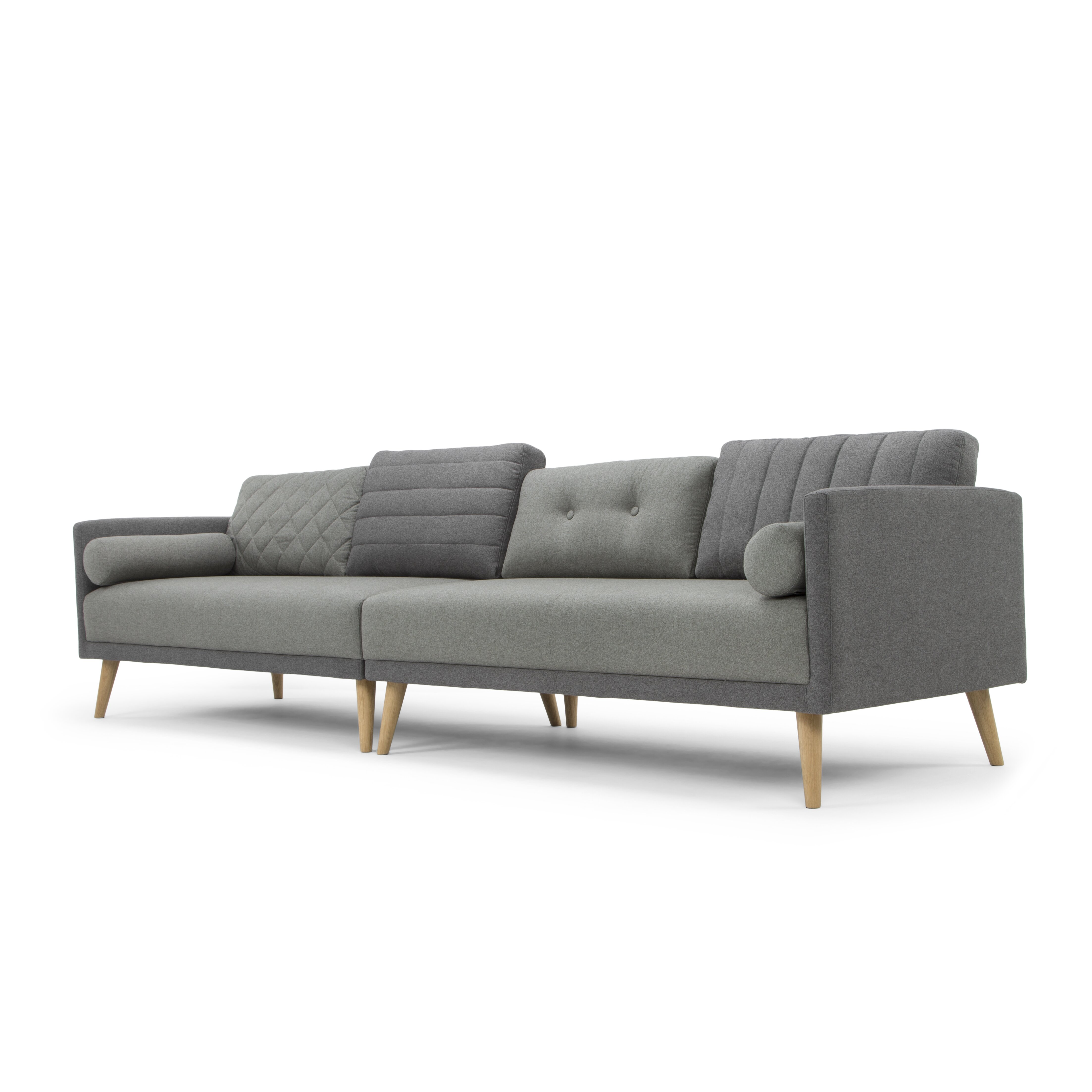 Nordic upholstery ragnar modern sofa wayfair for Sofa nordic