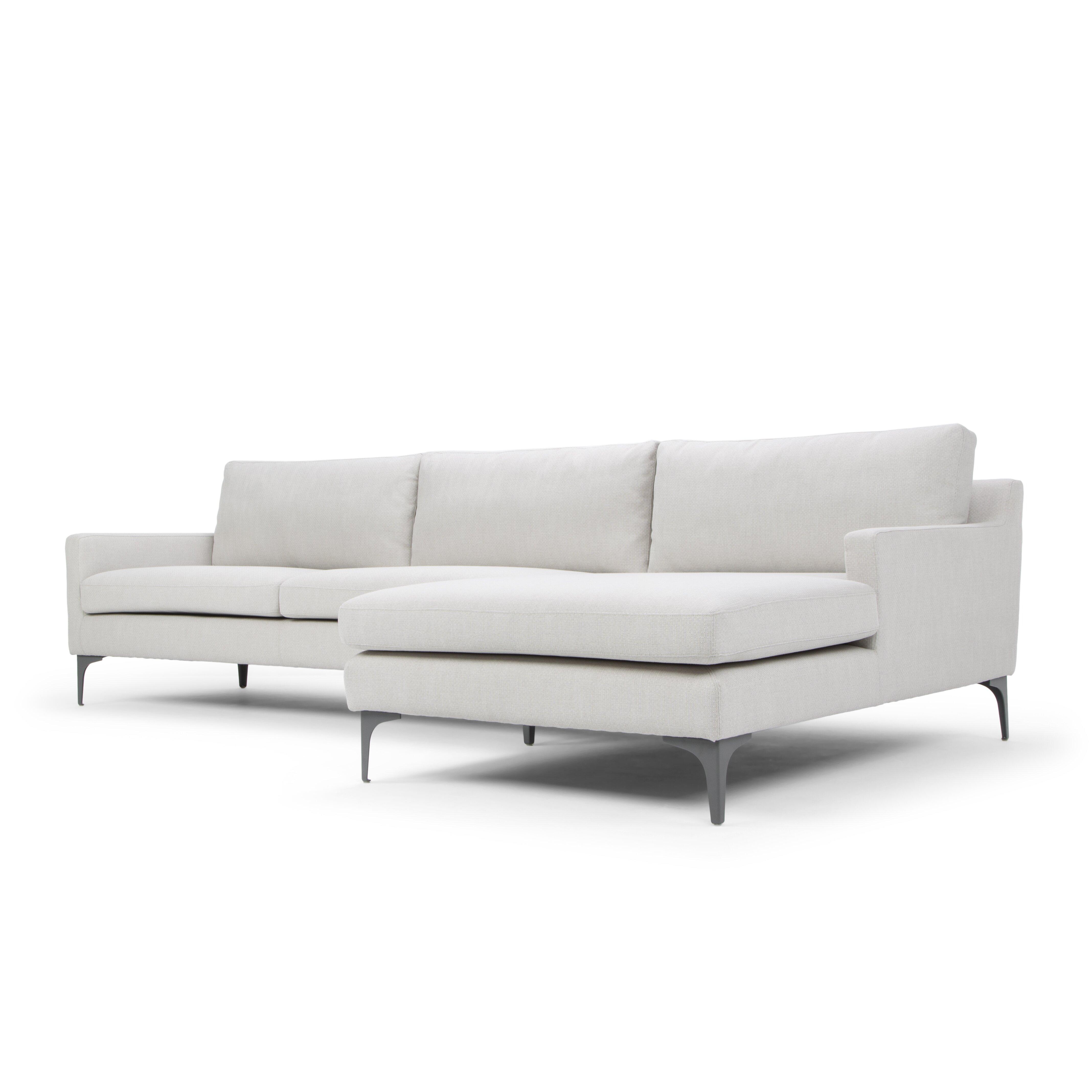 Nordic upholstery ingrid sectional sofa wayfair for Wayfair sectional sofa