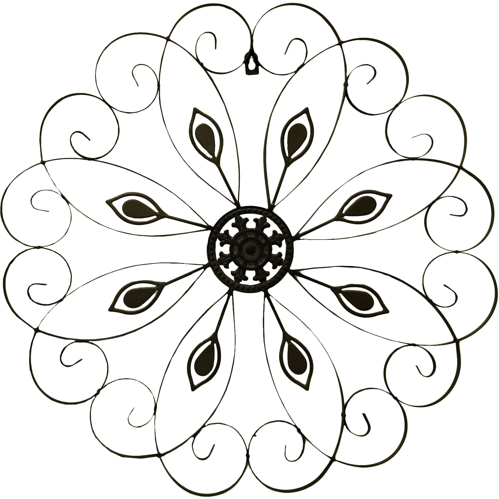 Scroll Design Wall Decor : Rayes imports metal scroll design wall decor reviews