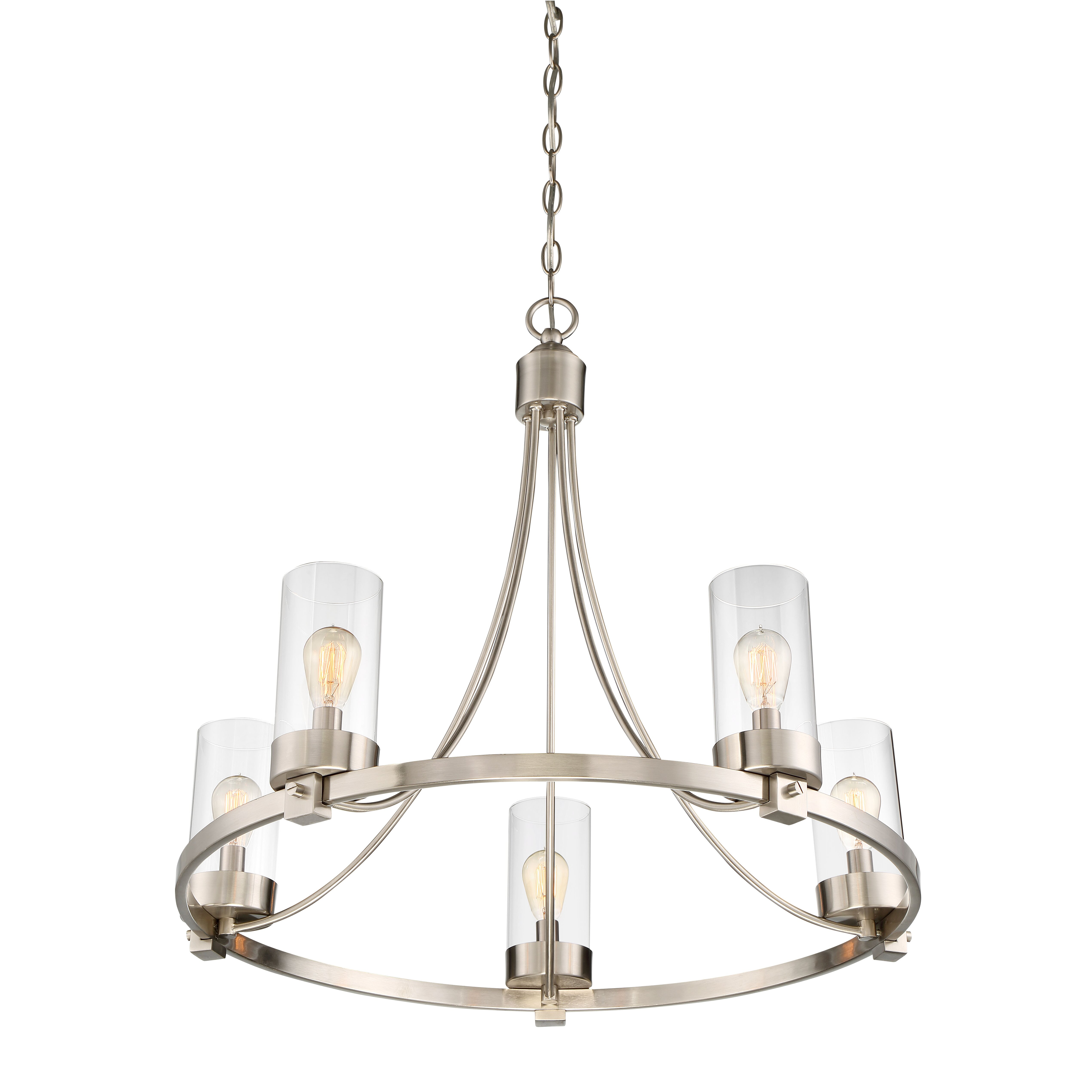 Laurel Foundry Modern Farmhouse Agave 5 Light Candle Chandelier & Reviews