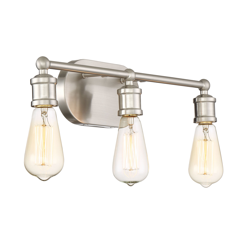 Laurel foundry modern farmhouse agave 3 light vanity light for Wayfair industrial lamp
