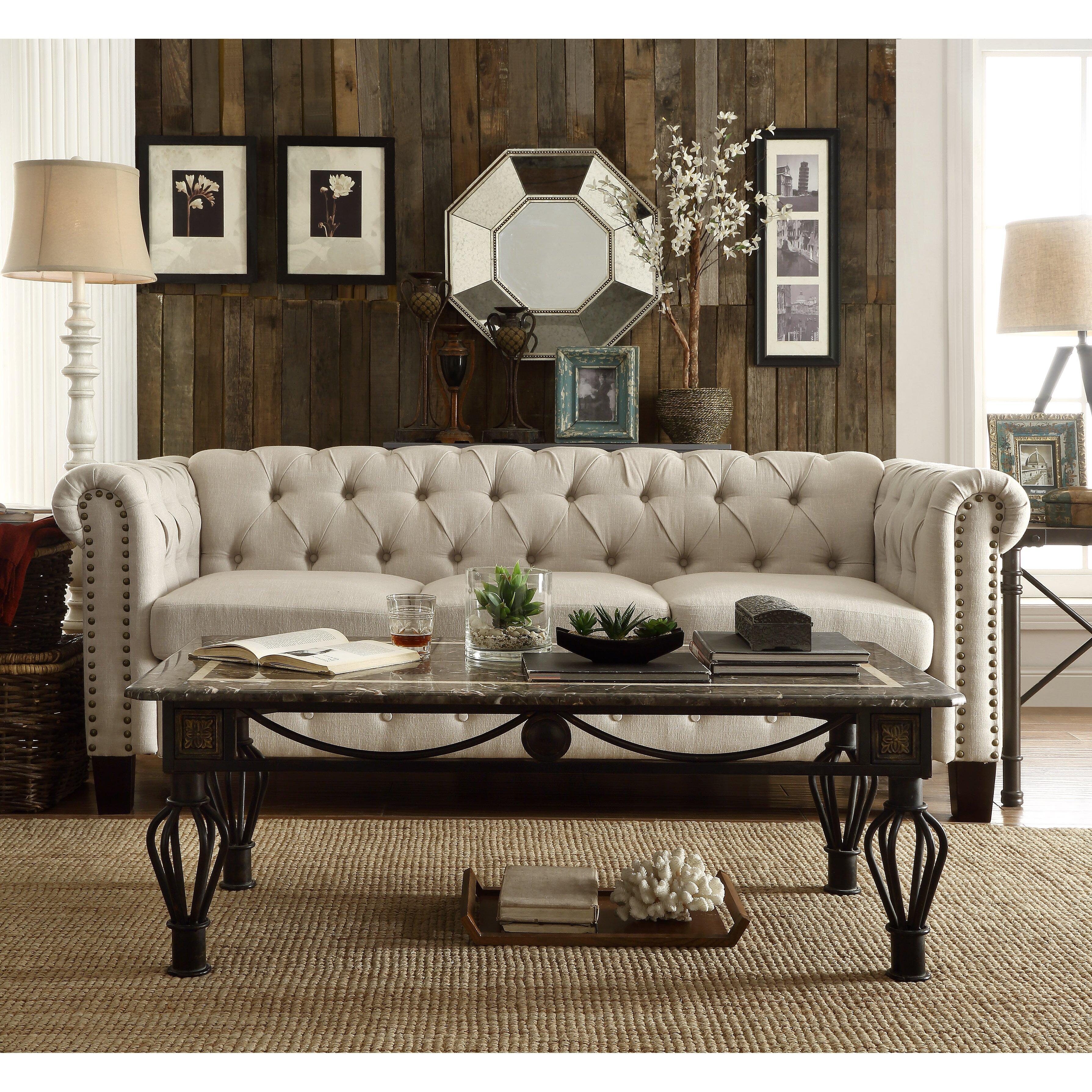 Laurel foundry modern farmhouse adeline chesterfield sofa for Amerikanische sofas