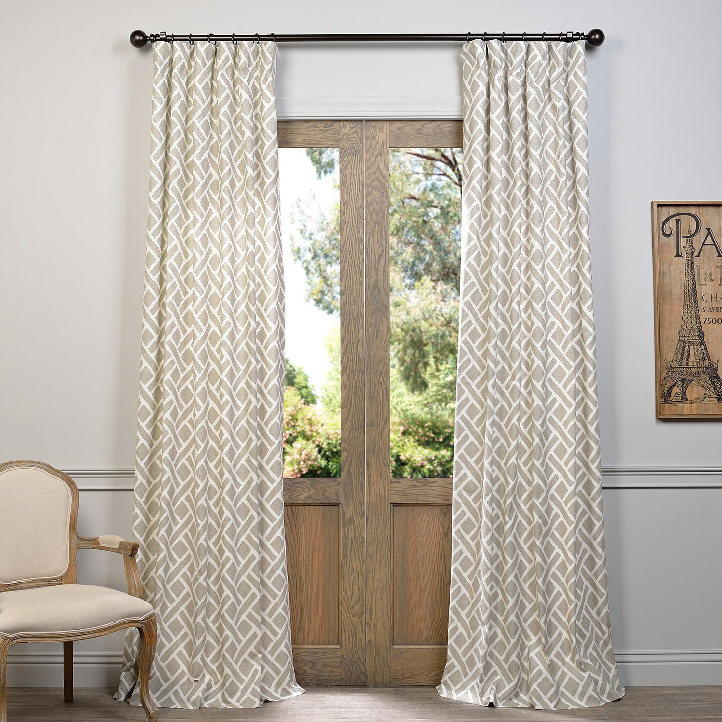 Laurel Foundry Modern Farmhouse Amandier Single Curtain