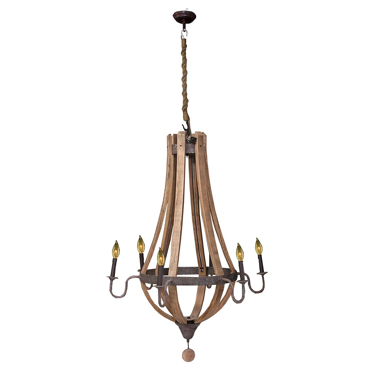 Laurel Foundry Modern Farmhouse Amberly 6 Light Candle
