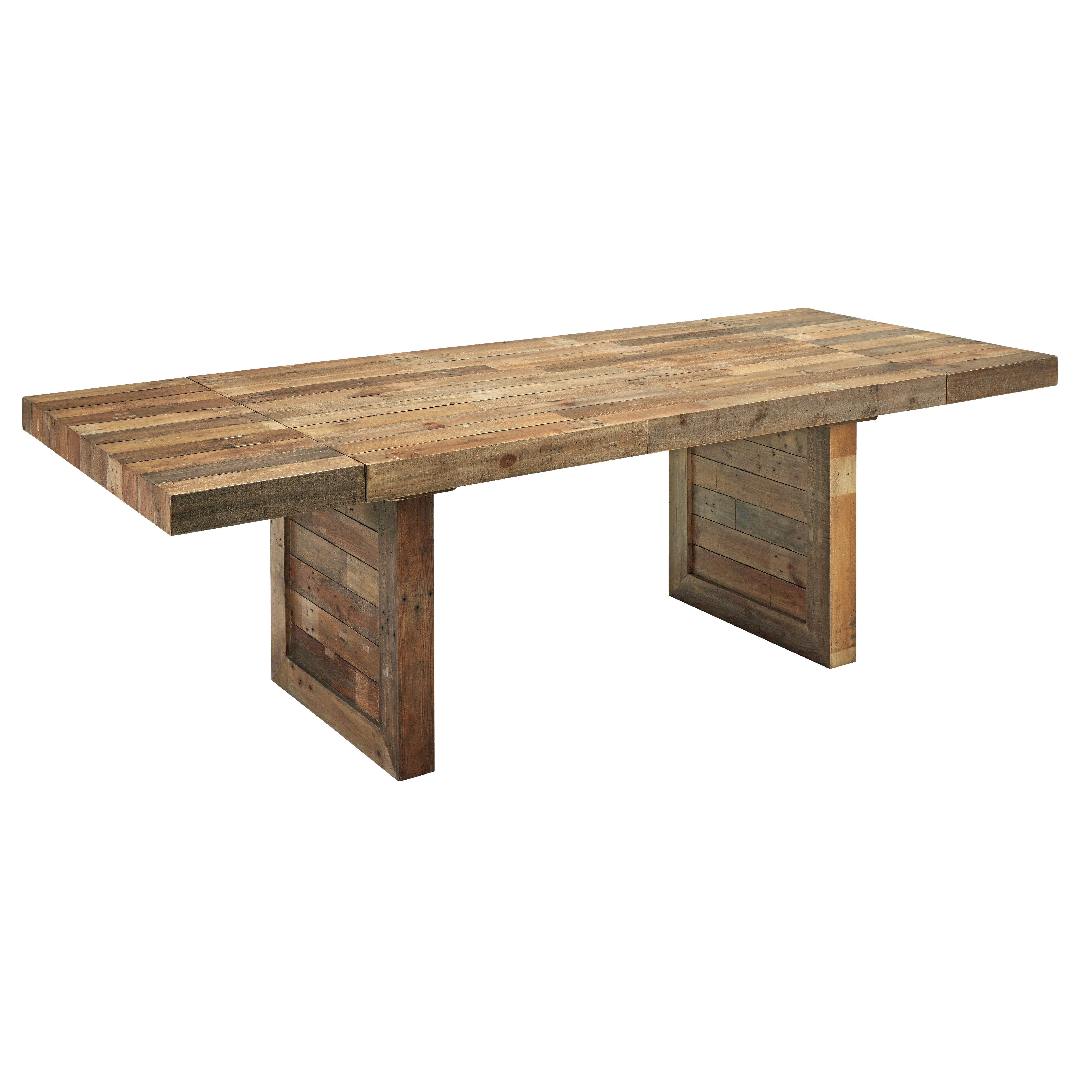 """Laurel Foundry Modern Farmhouse Alycia 95"""" Extendable Dining Table"""