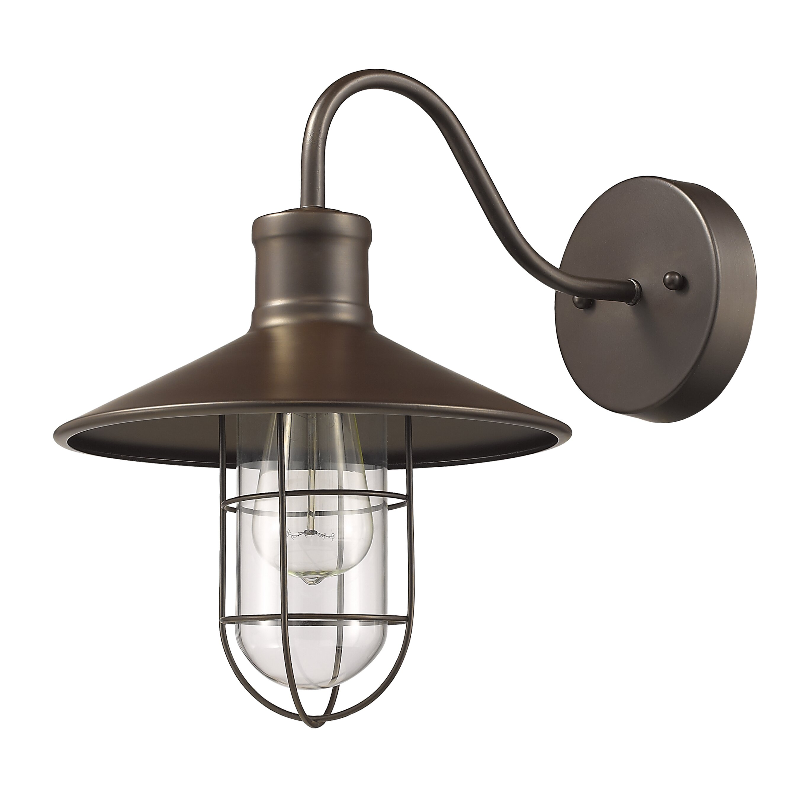Laurel Foundry Modern Farmhouse Bouvet 1 Light Wall Sconce & Reviews Wayfair