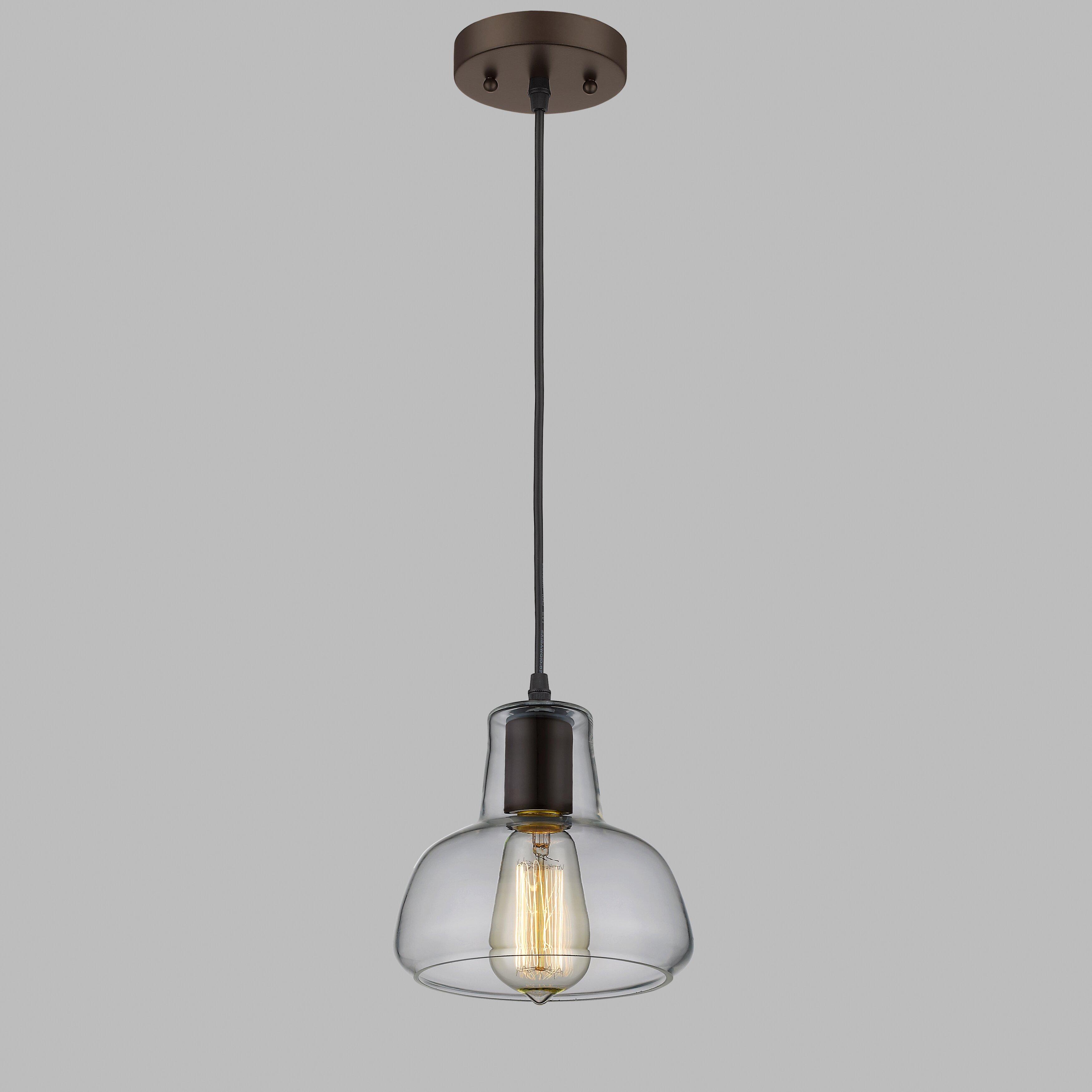Laurel Foundry Modern Farmhouse Bouvet 1 Light Mini Pendant & Reviews