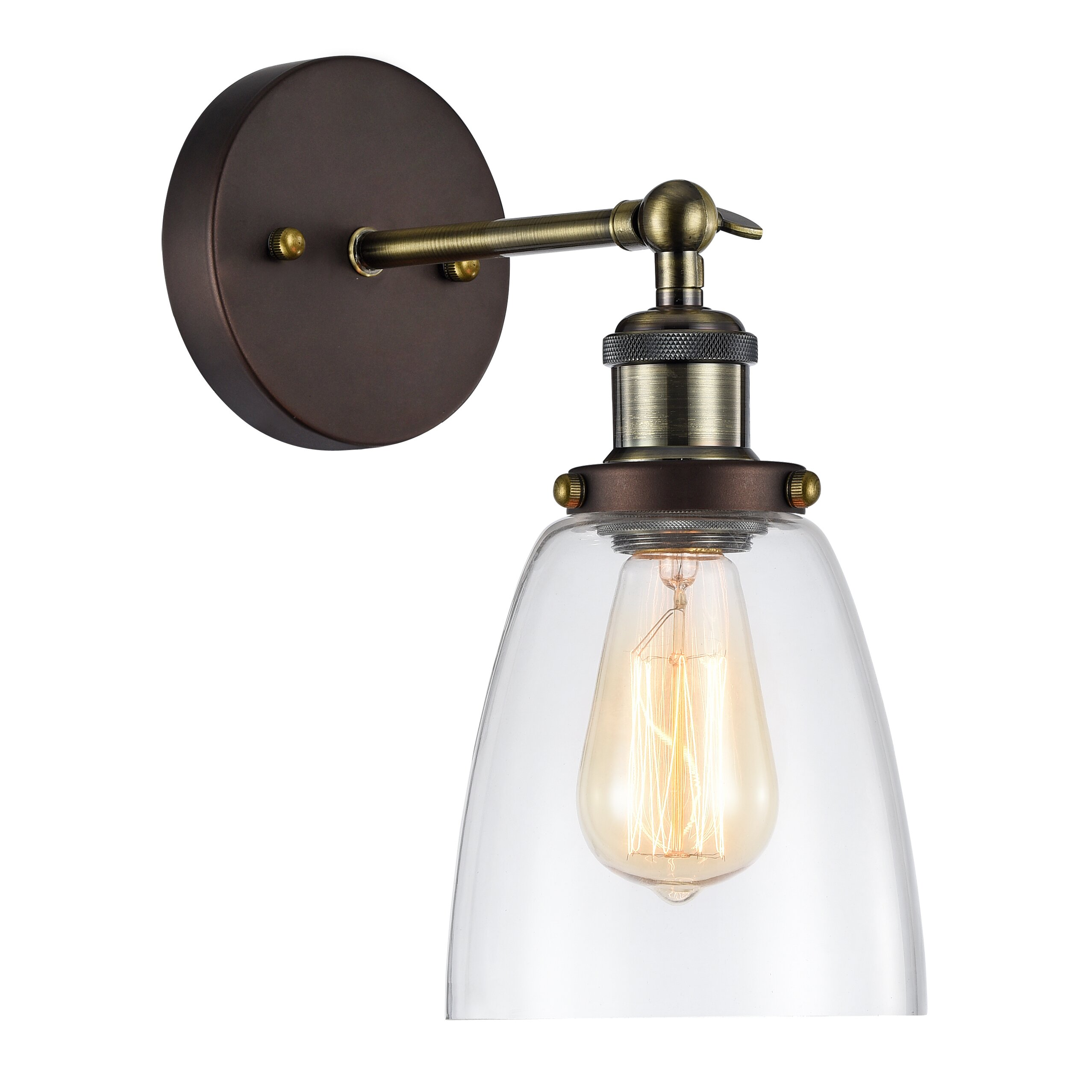 Laurel Foundry Modern Farmhouse Bouvet 1 Light Wall Sconce & Reviews